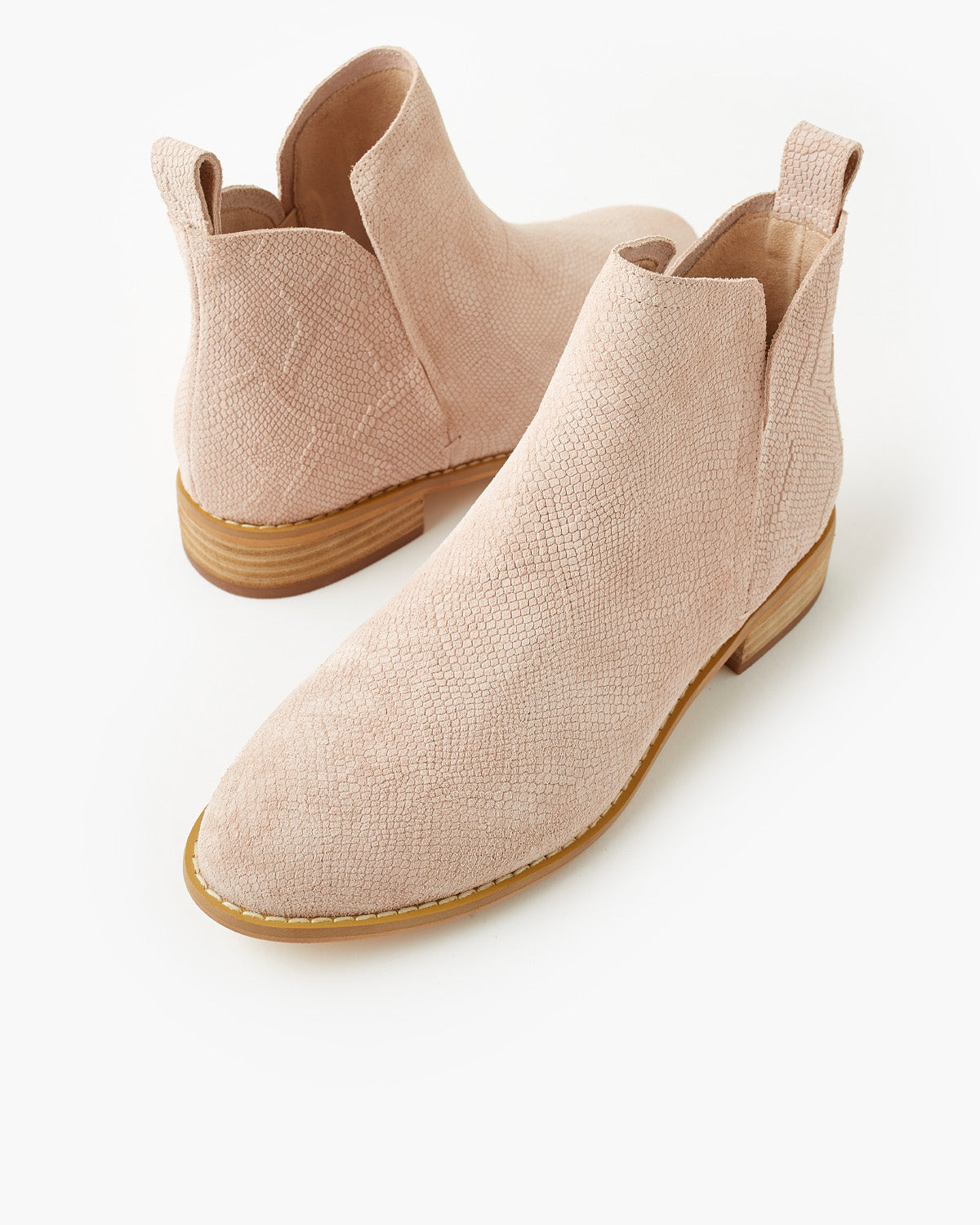 Douglas Leather Boot - Blush Snake