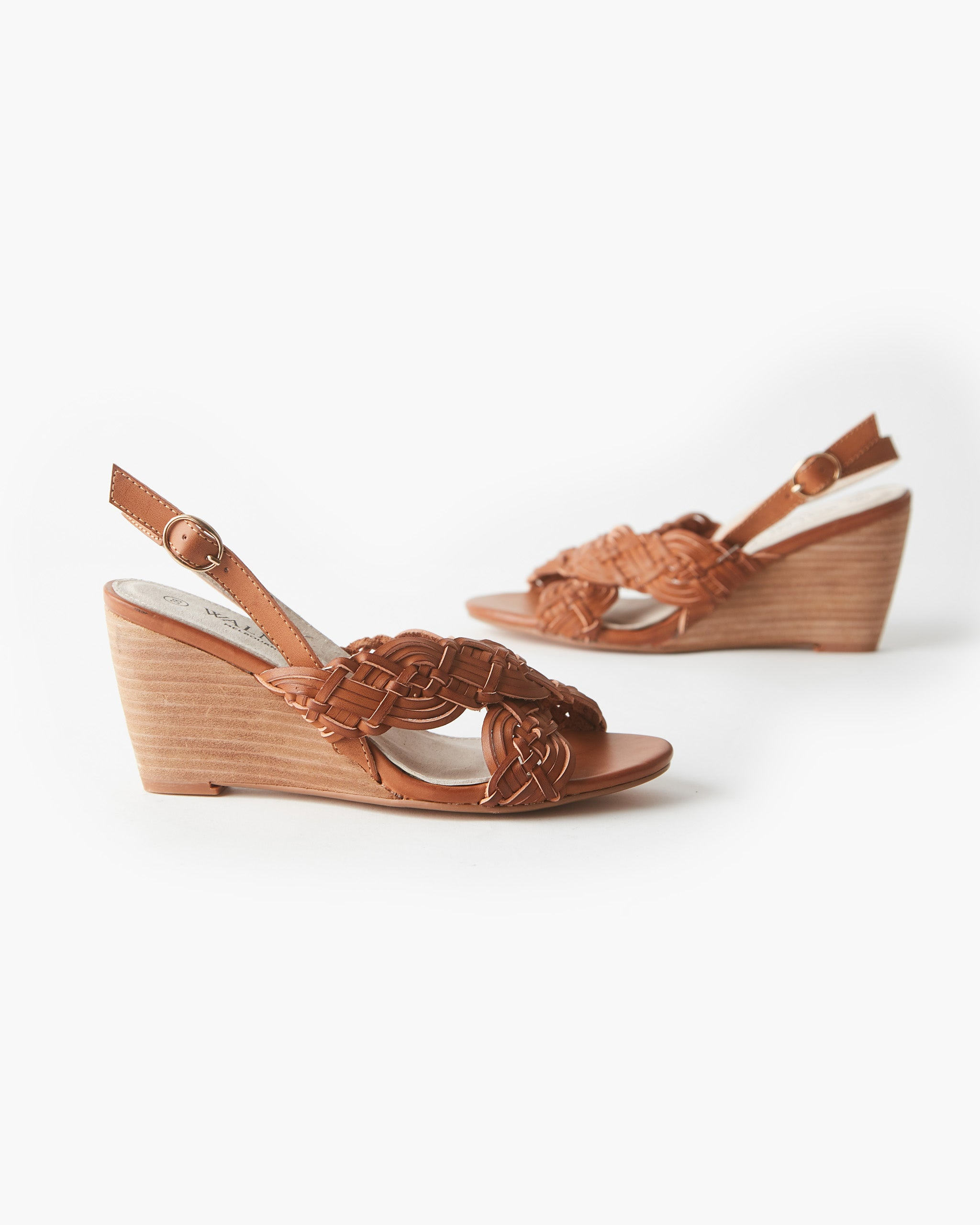 Alice Woven Wedge - Tan