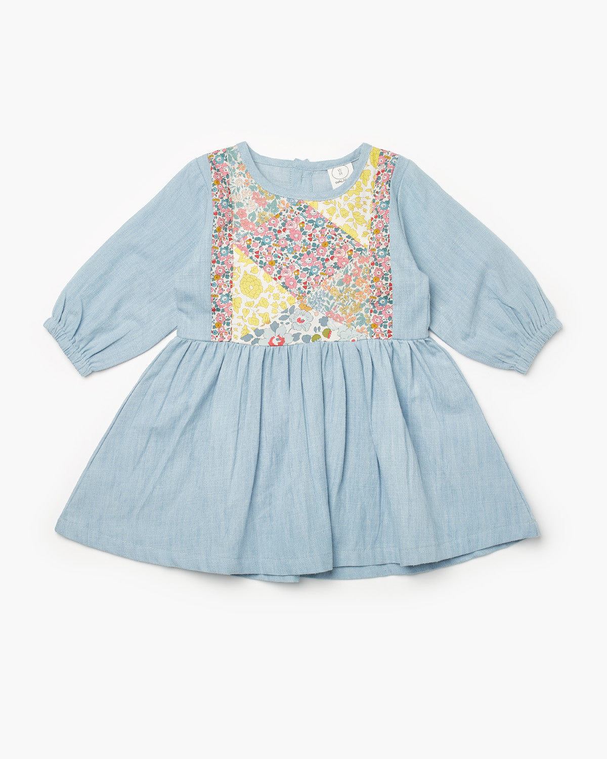 Fleur Blouson Liberty Print Dress - D'Anjo Sky Multi