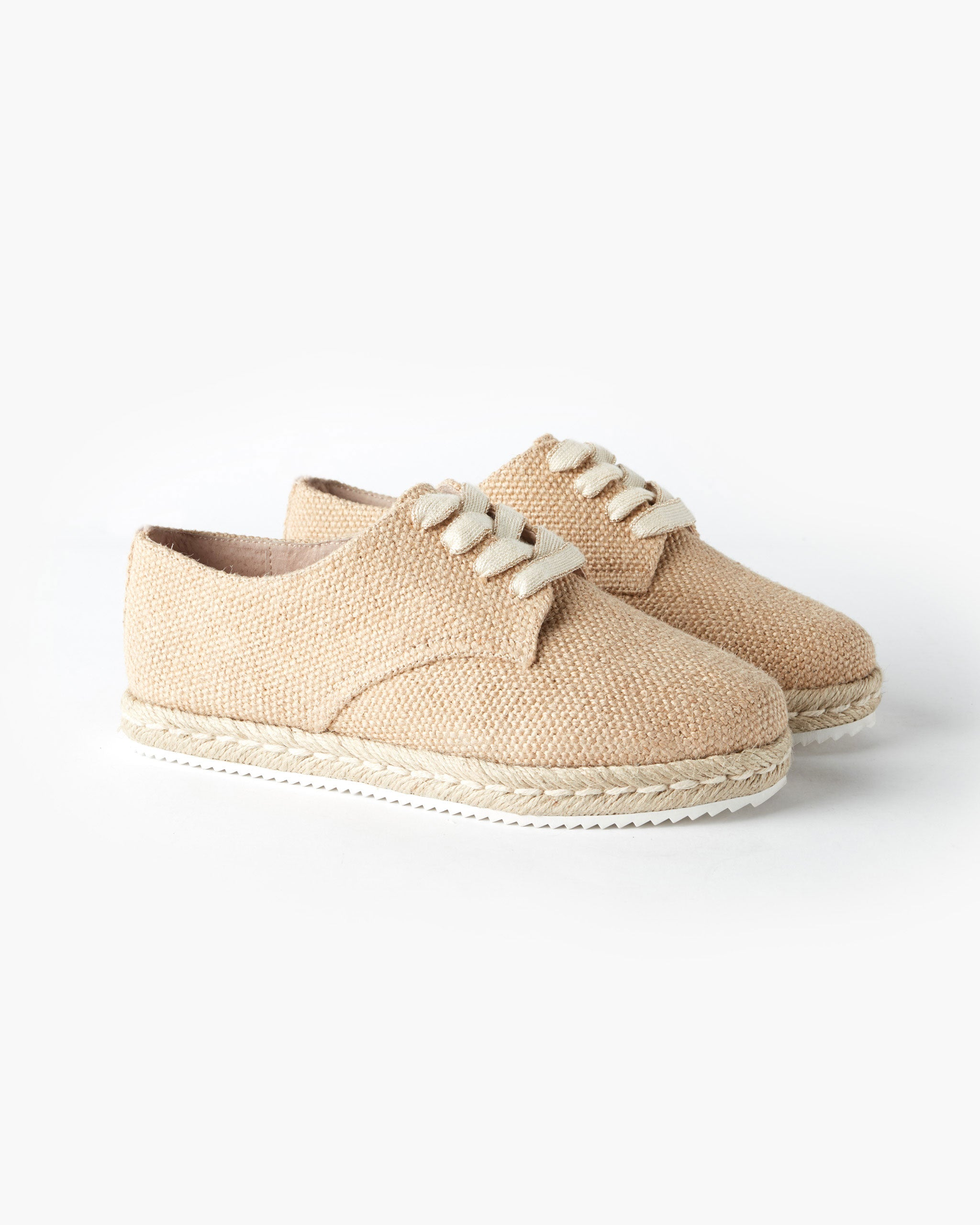 Giselle Canvas Lace Up Espadrille - Tan