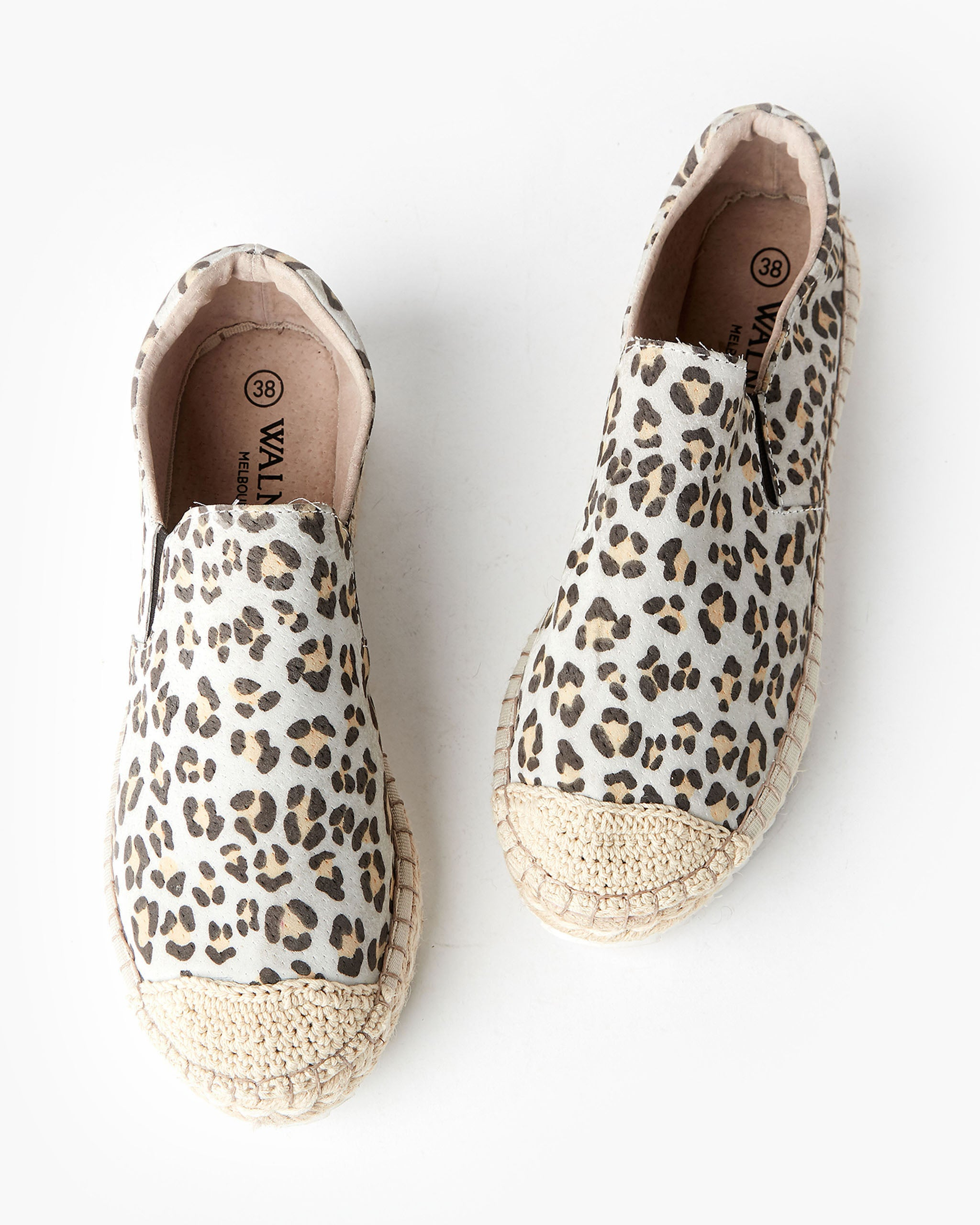 Goldie Leather Espadrille Tan Leopard