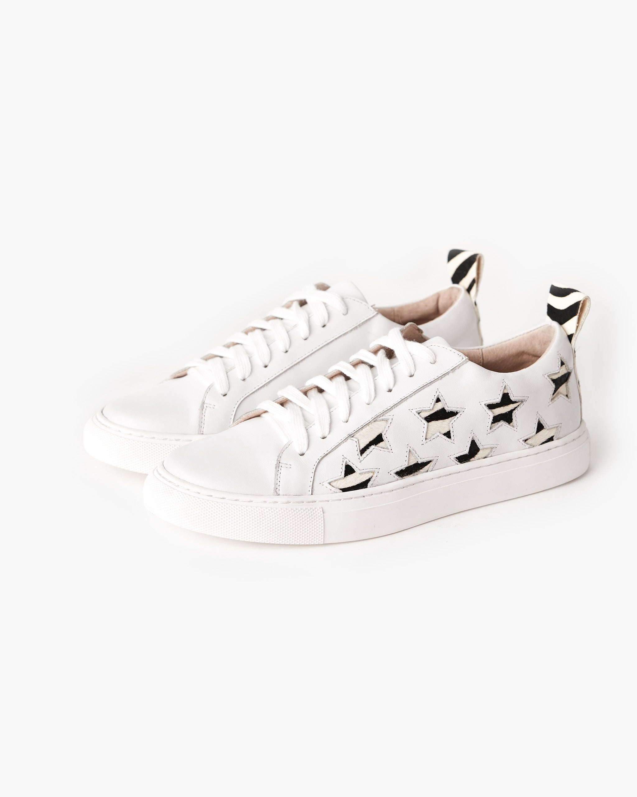 Haven Leather Sneaker - Zebra Star