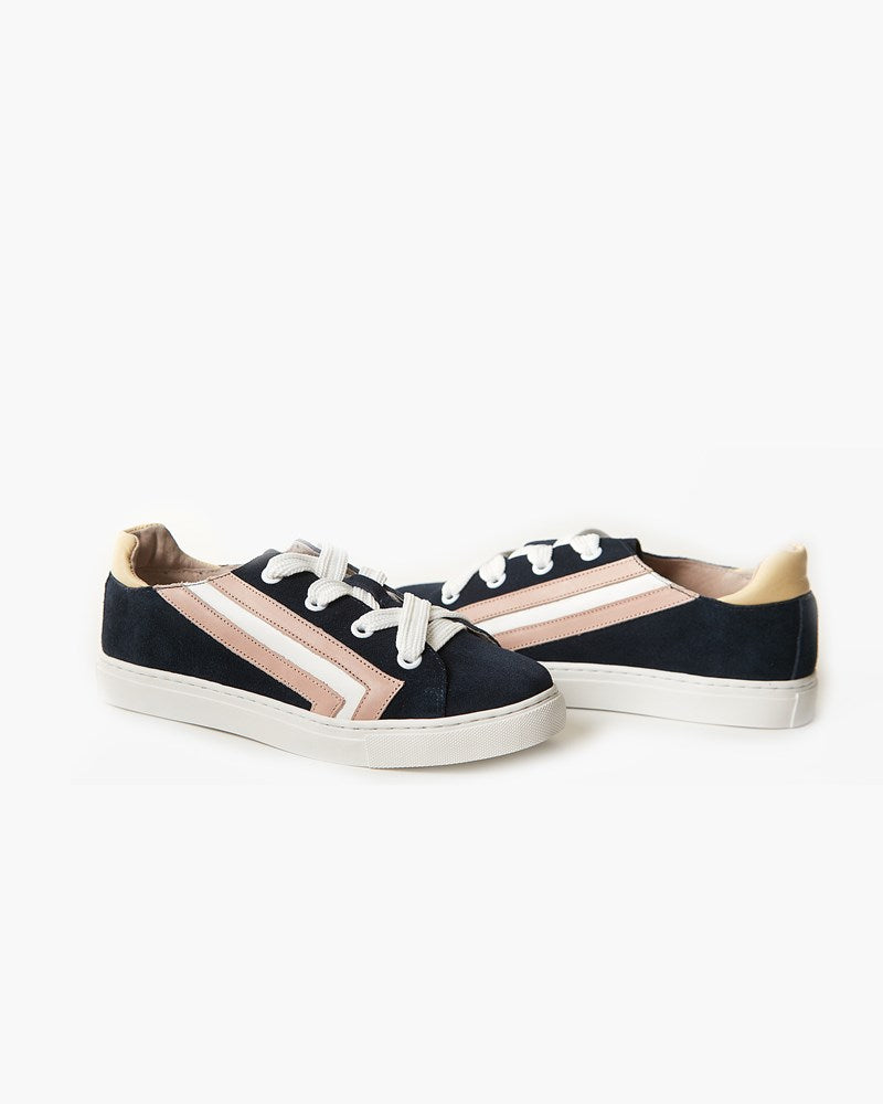 Harvey Leather Sneaker - Navy