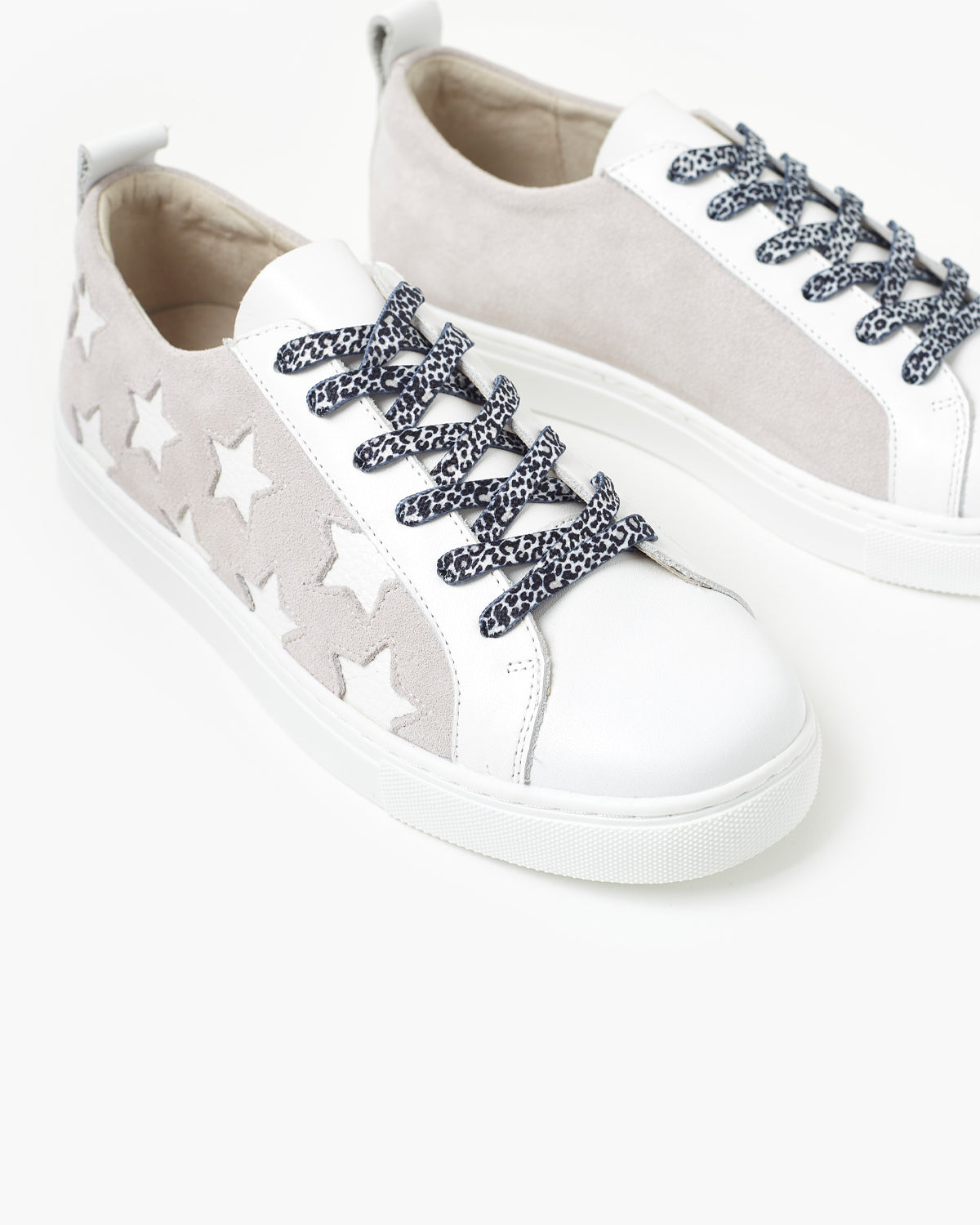 Haven Leather Sneaker - White/Grey