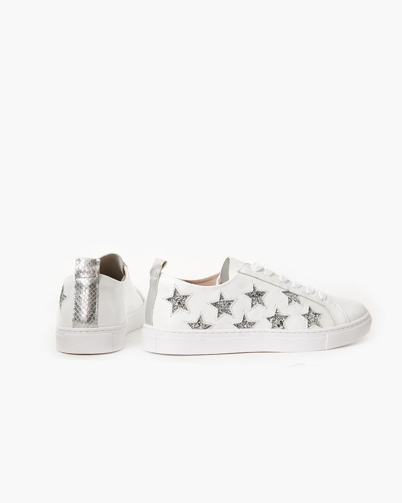 Haven Leather Sneaker - Silver Glitter