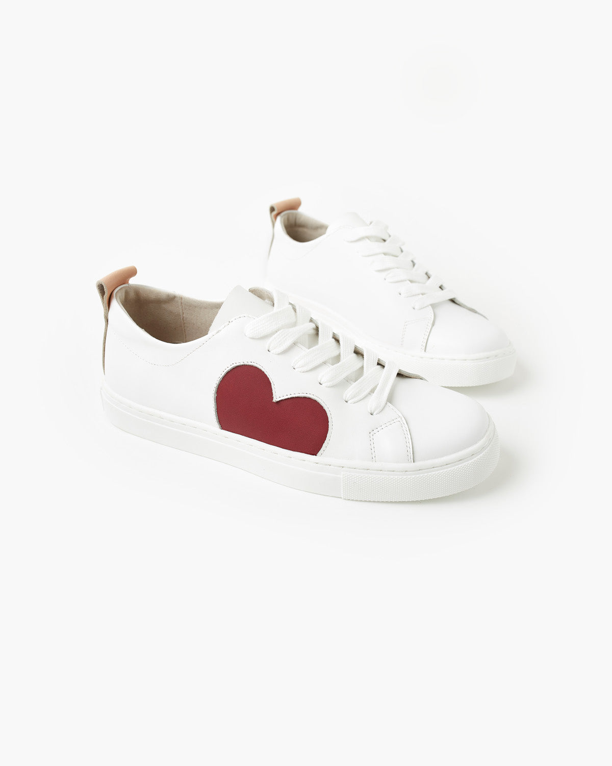 Heart Leather Sneaker - Plum