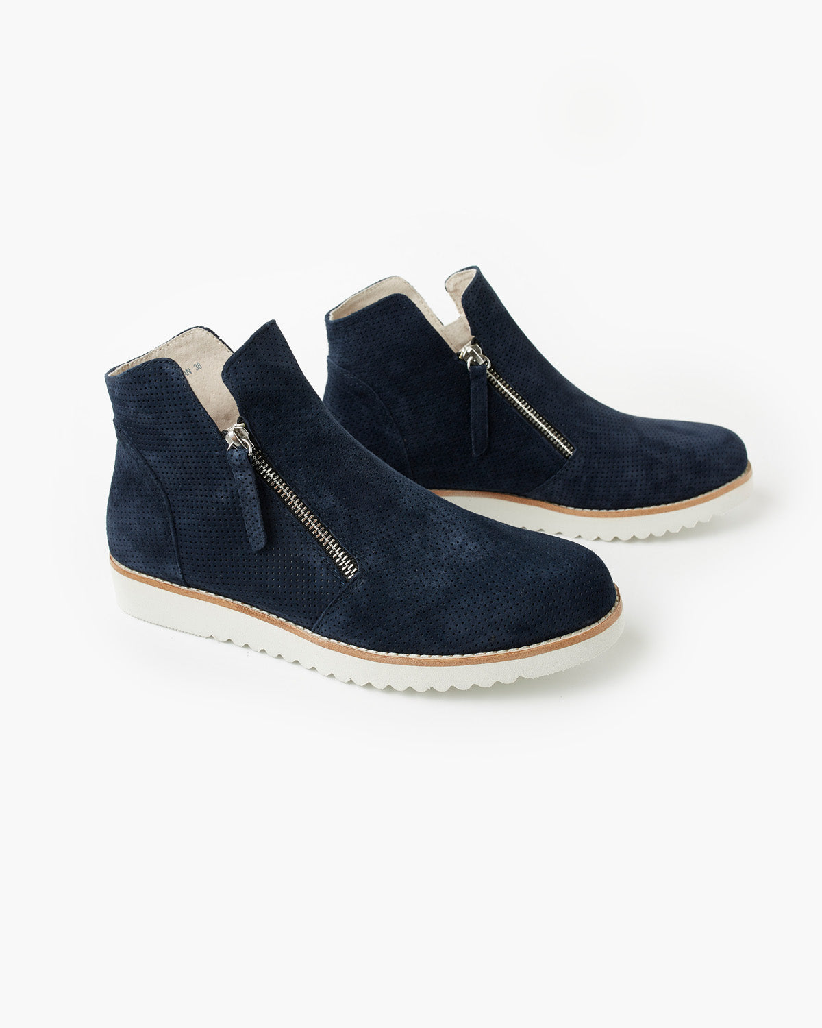Morgan Leather Boot - Navy Nubuck
