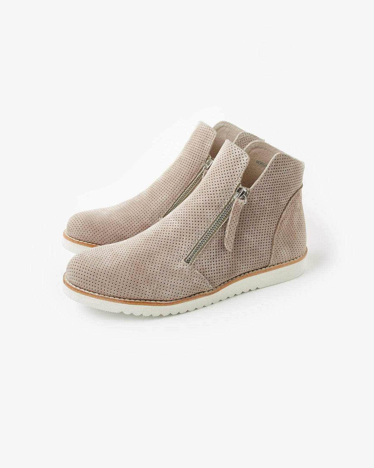 Morgan Leather Boot - Taupe Nubuck