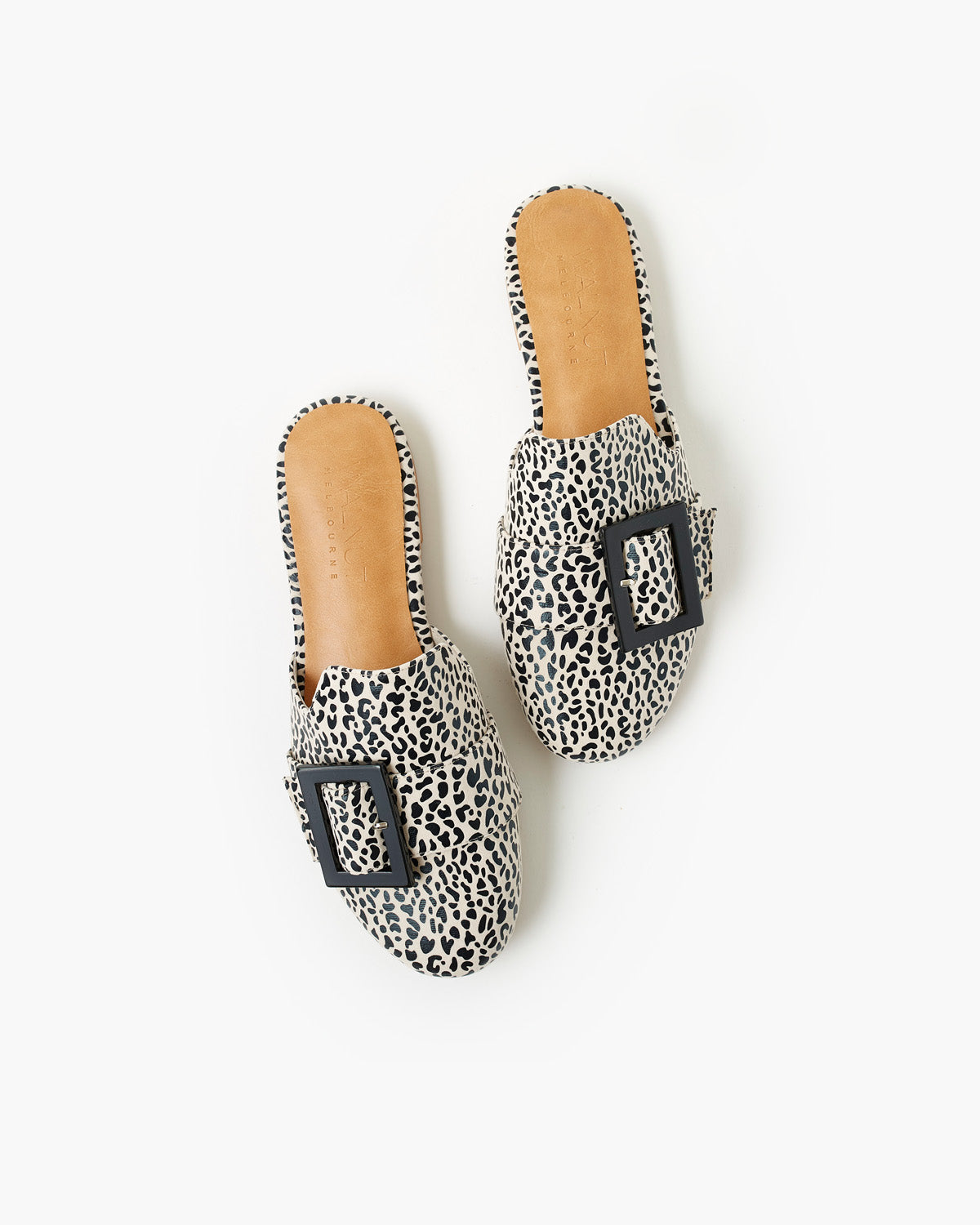 Meadow Mule - Light Tan Leopard