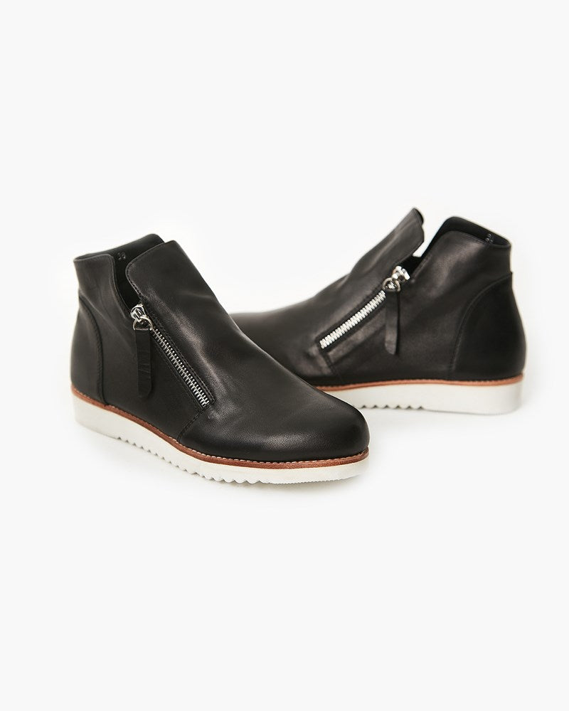 Morgan Leather Boot- Black