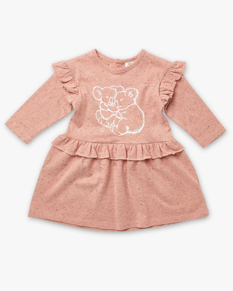May Gibbs Nelli Dress - Koala Cuddles Pink