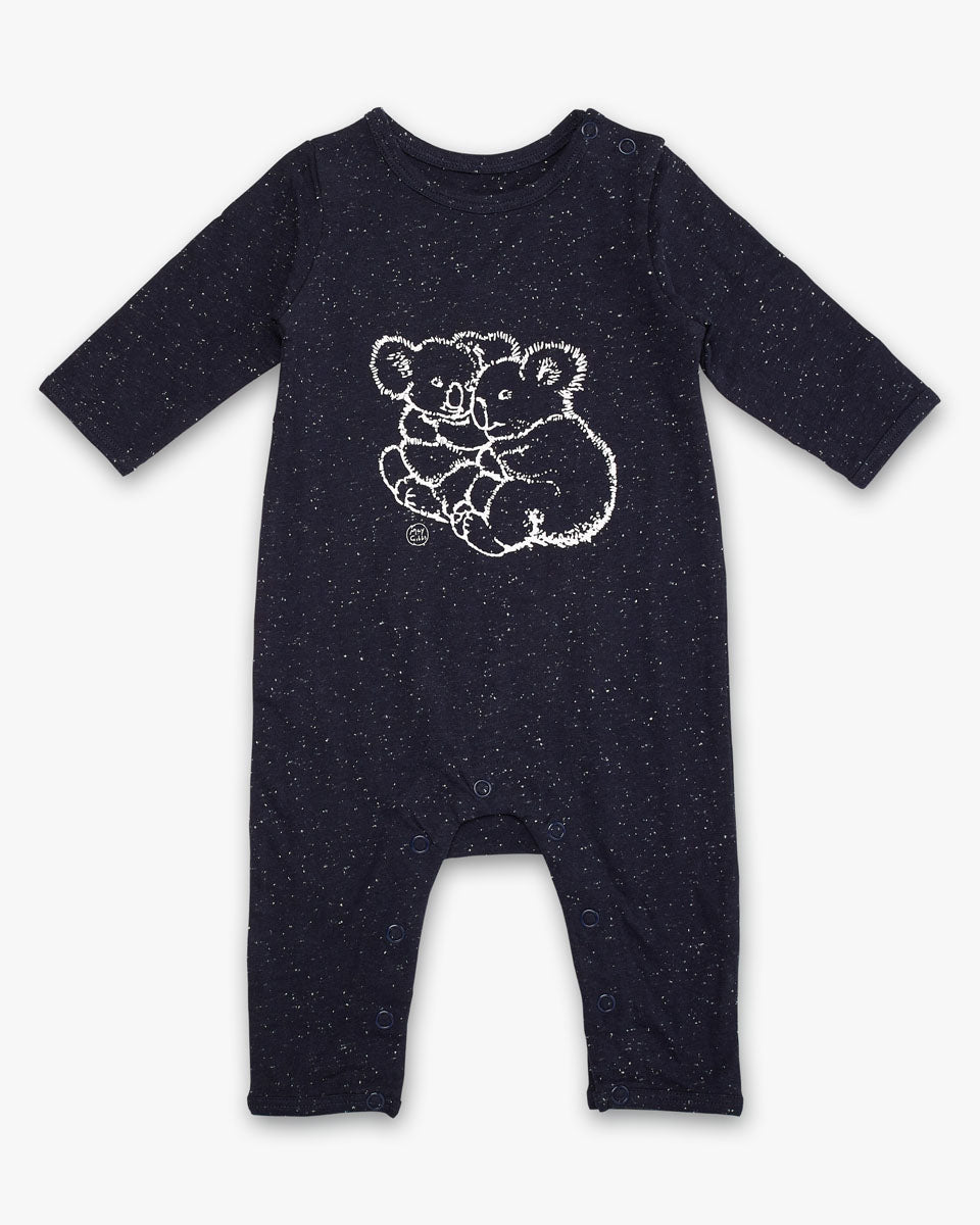 May Gibbs Scout Onesie - Koala Cuddles Navy