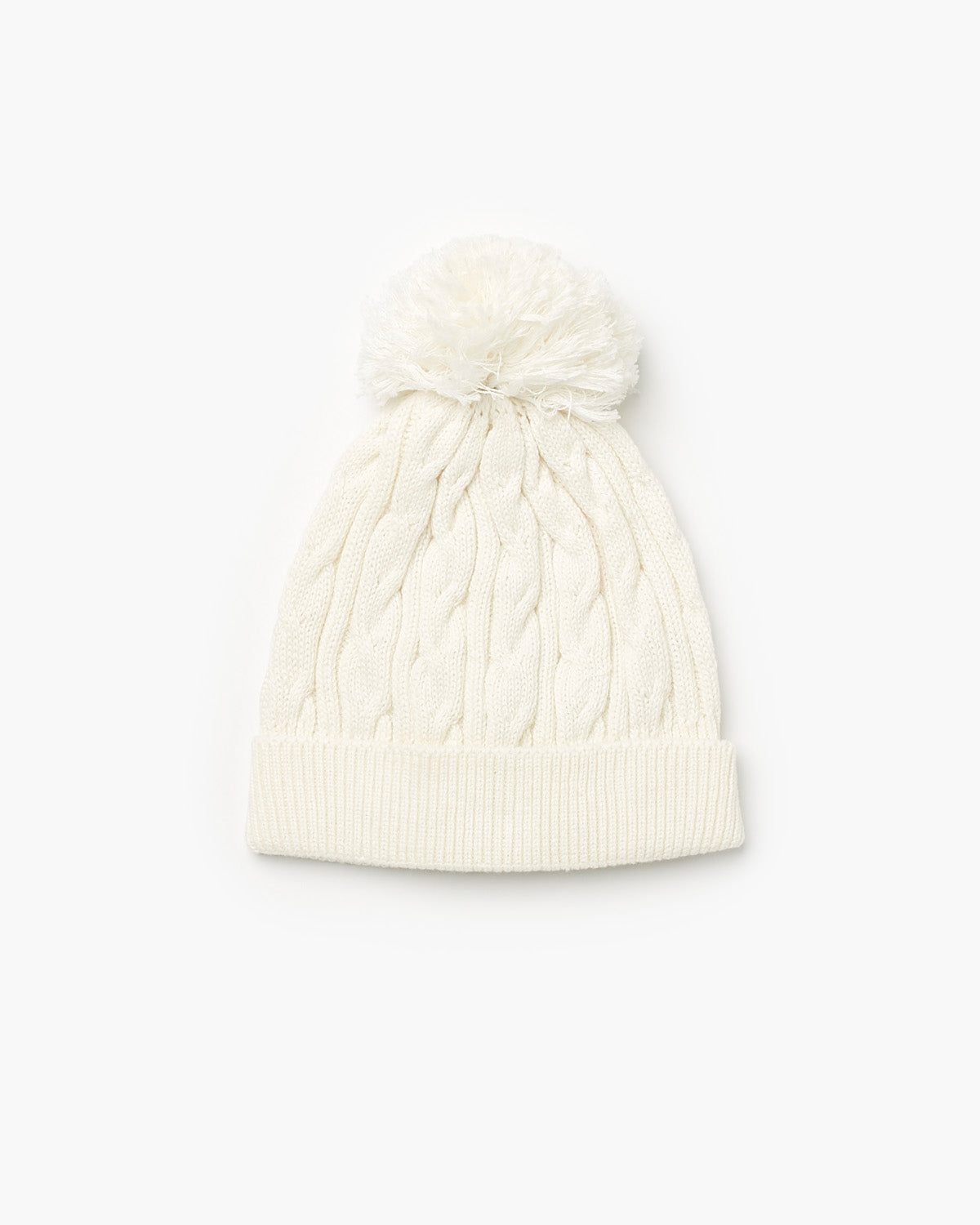 Valley Cable Knit Beanie - Cream