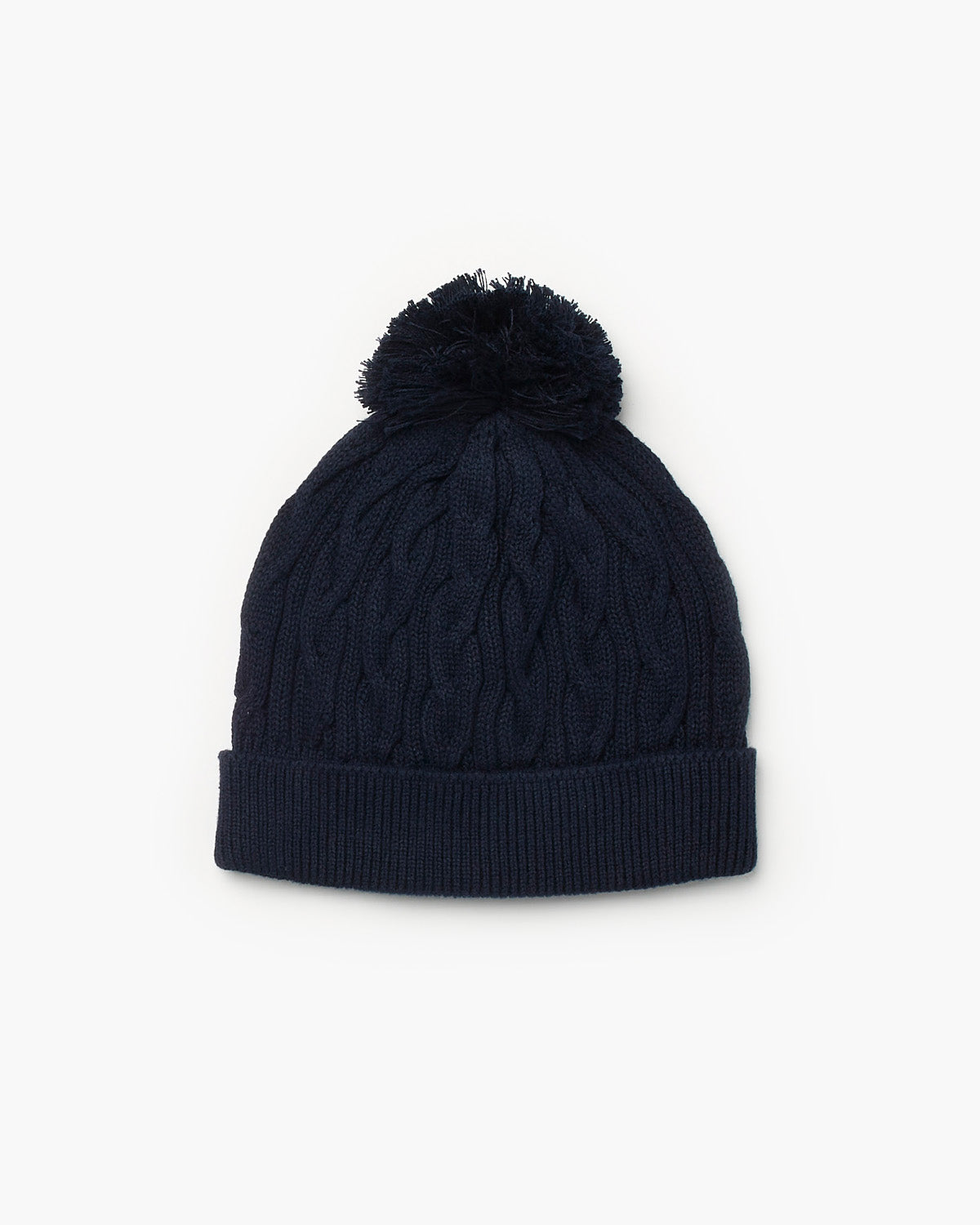 Valley Cable Knit Beanie - Navy