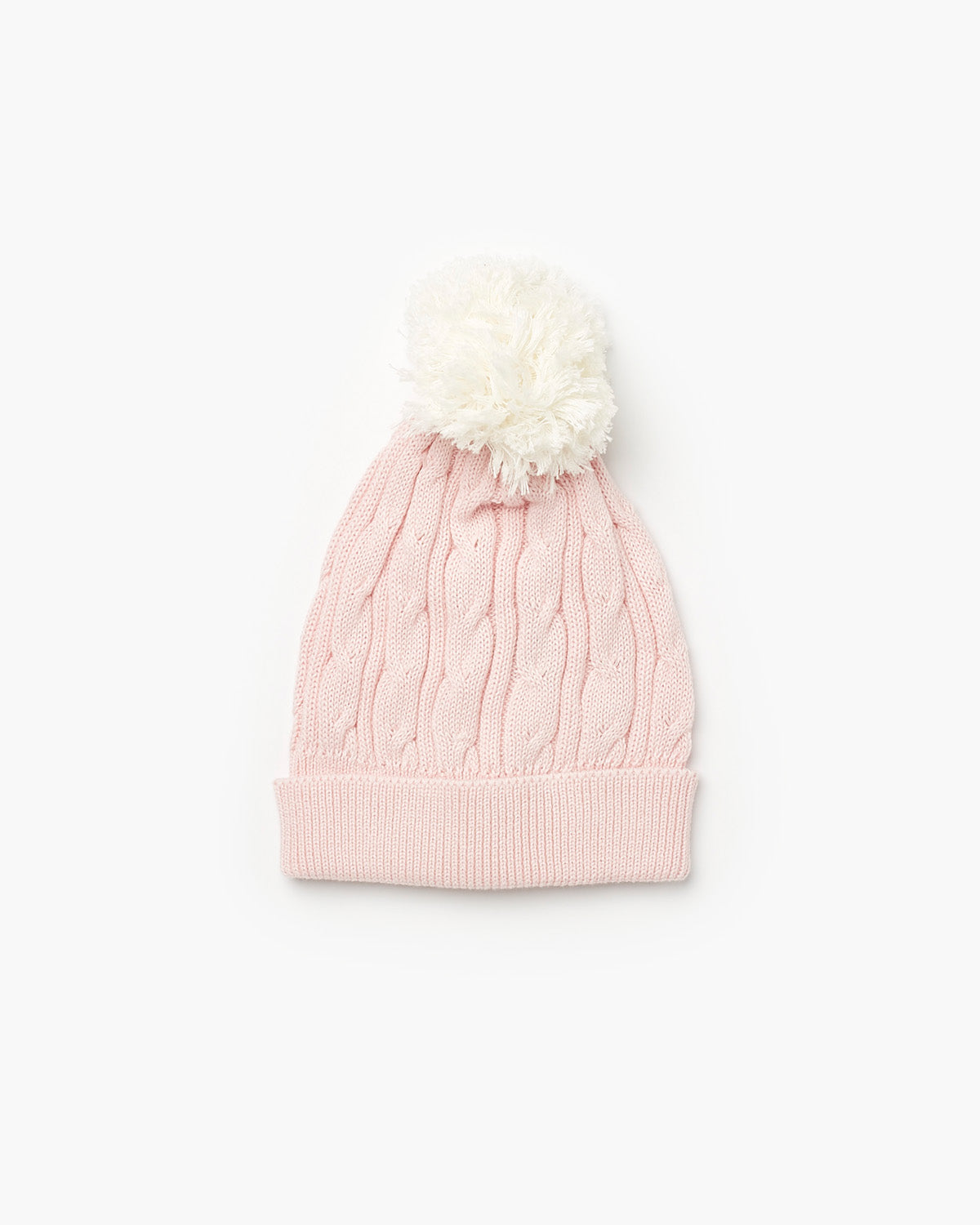 Valley Cable Knit Beanie - Pale Pink