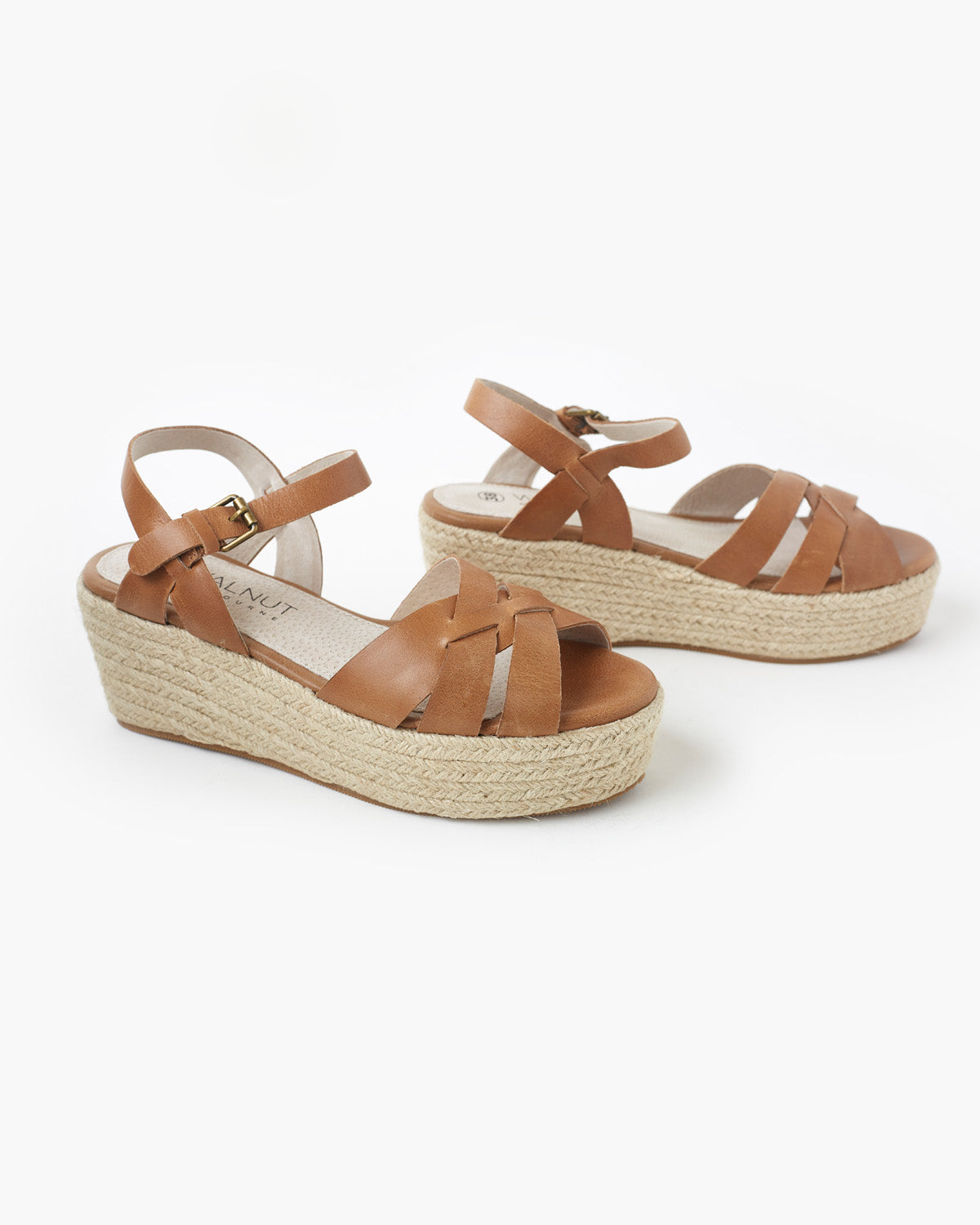Cassie Leather Flatform - Tan