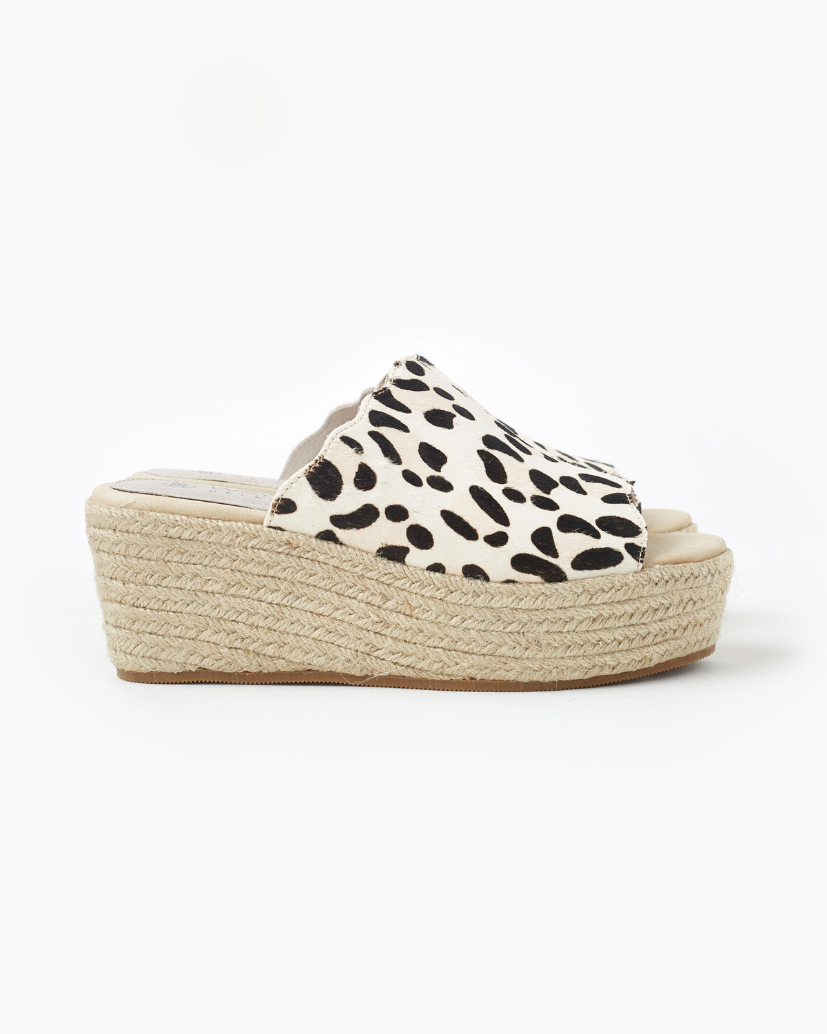 Chic Leather Flatform - White Leopard