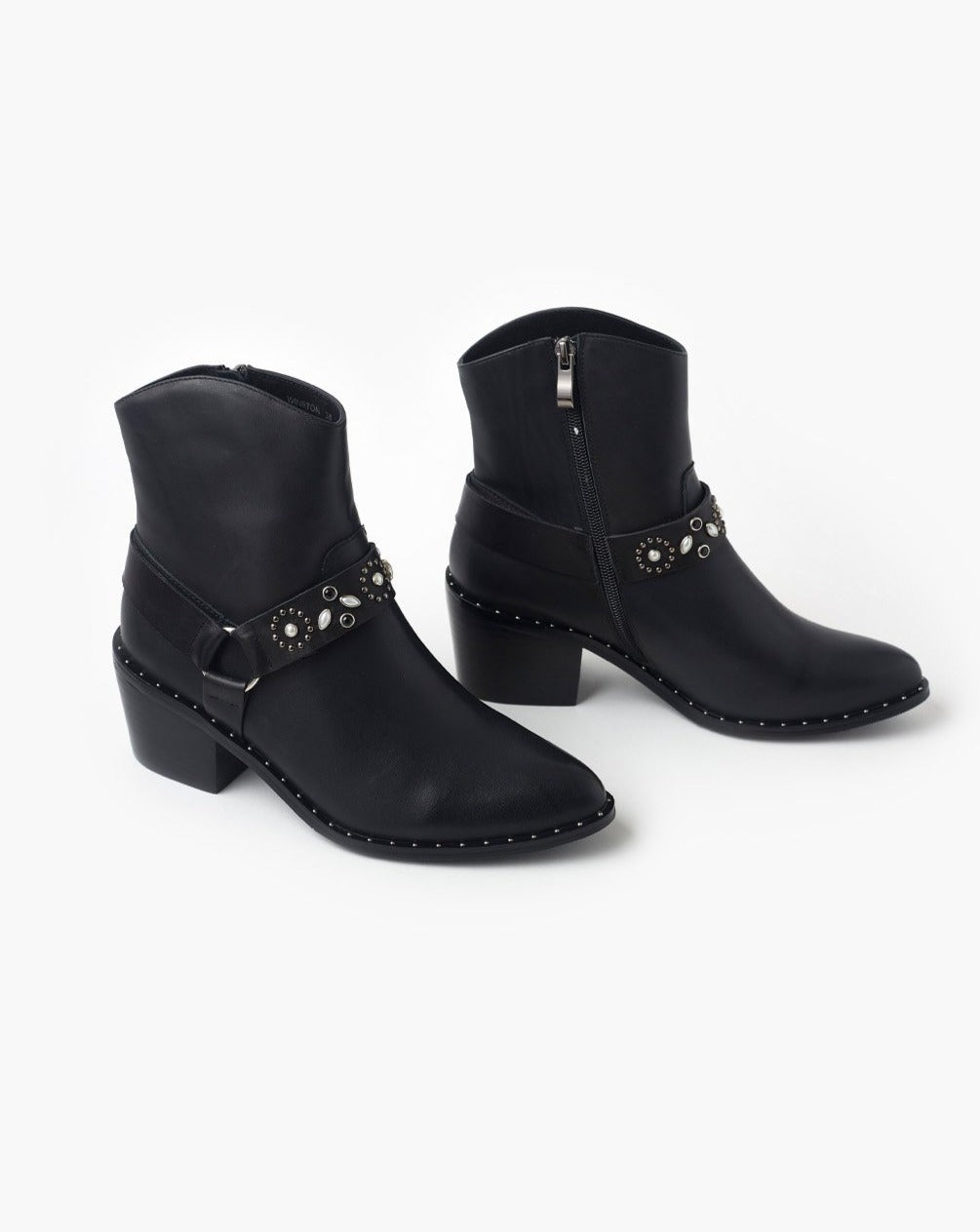 Winston Leather Boot - Black