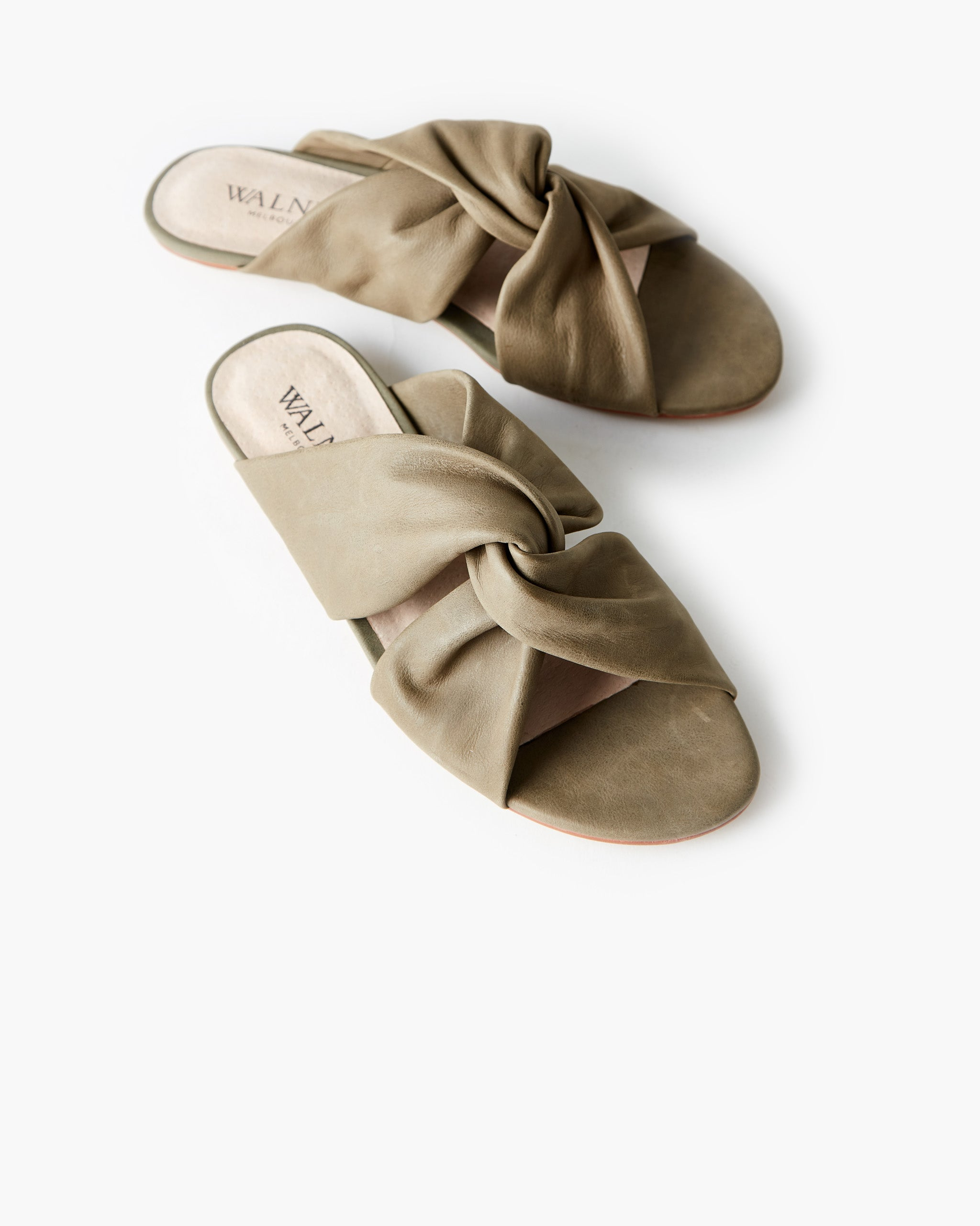 Rowie Leather Slide - Forest