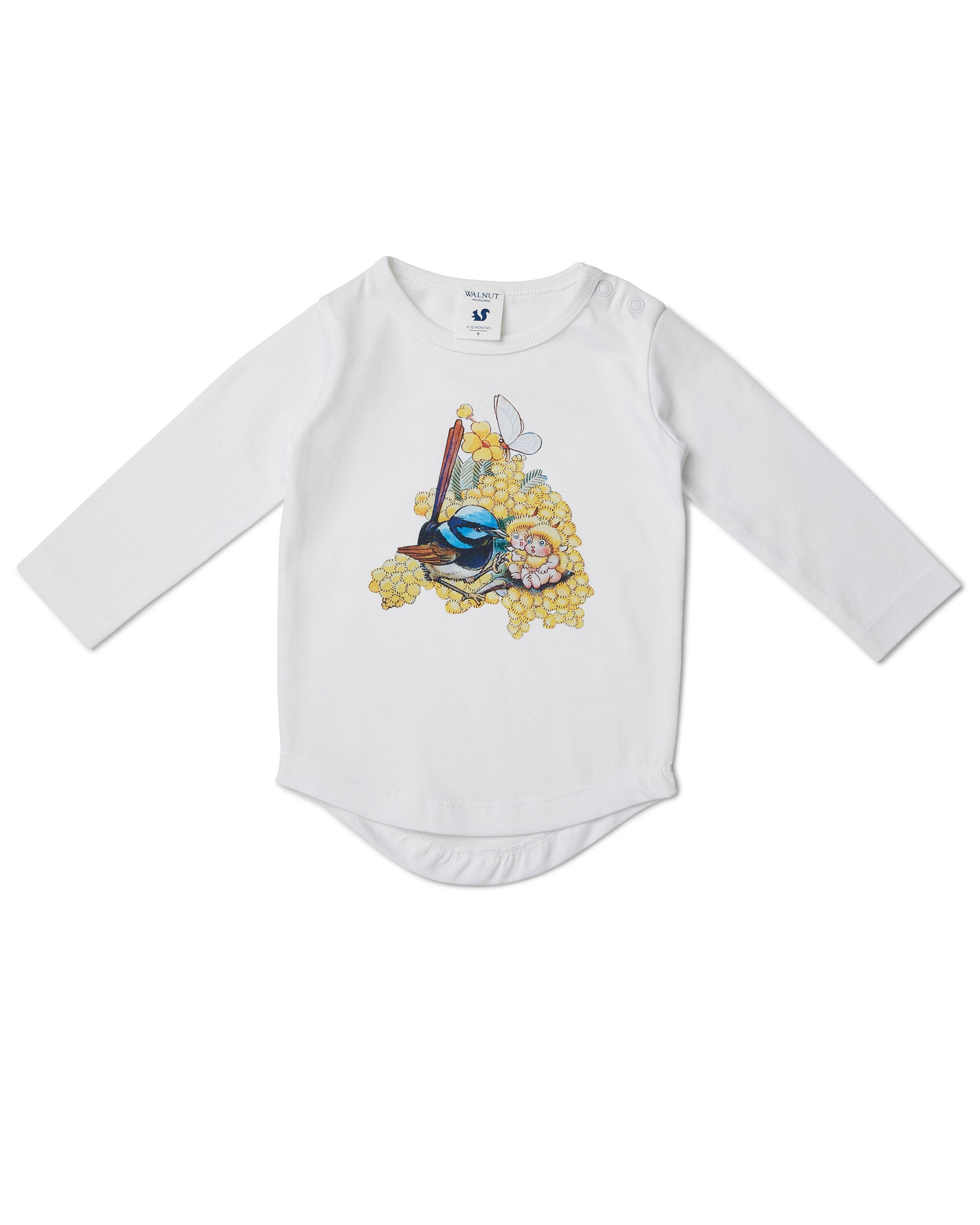 May Gibbs Leo Long Sleeve Tee - Wattle Wren