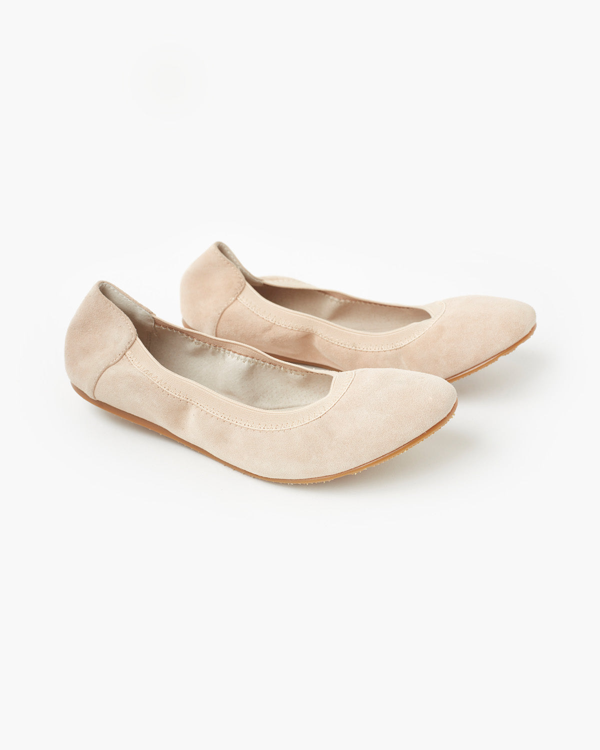 Ava Leather Ballet Flat - Blush Suede