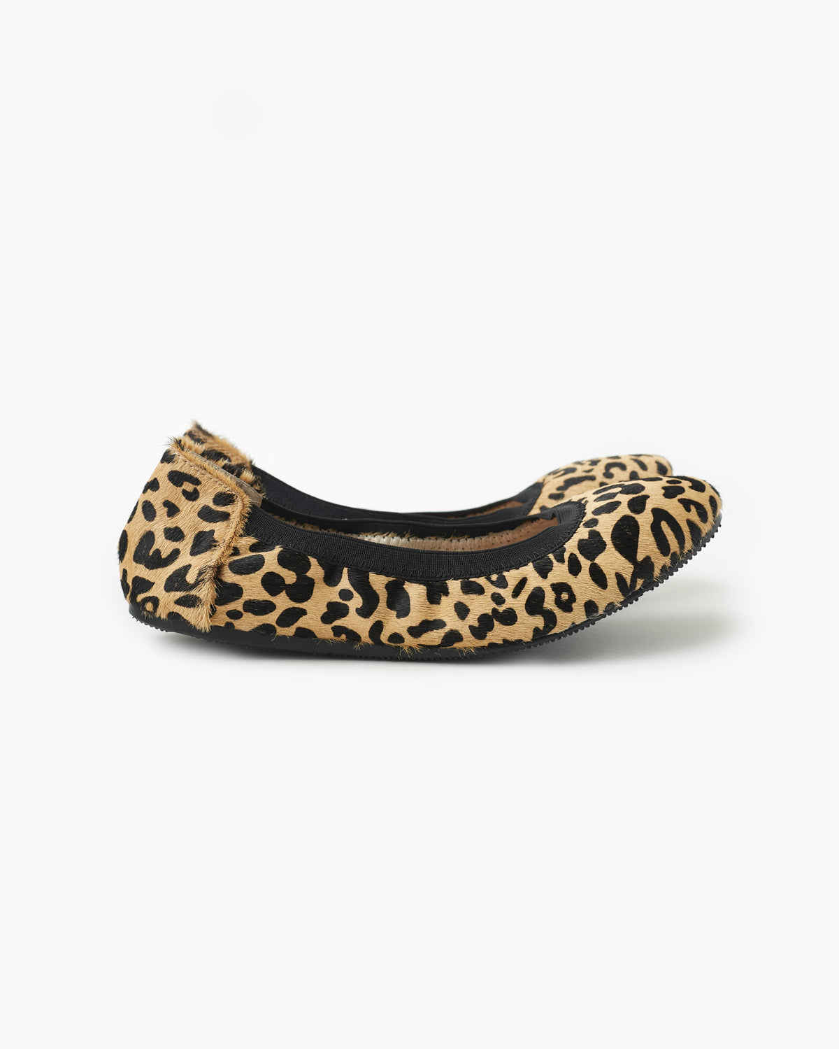 Ava Leather Ballet Flat - Sand Leopard Pony