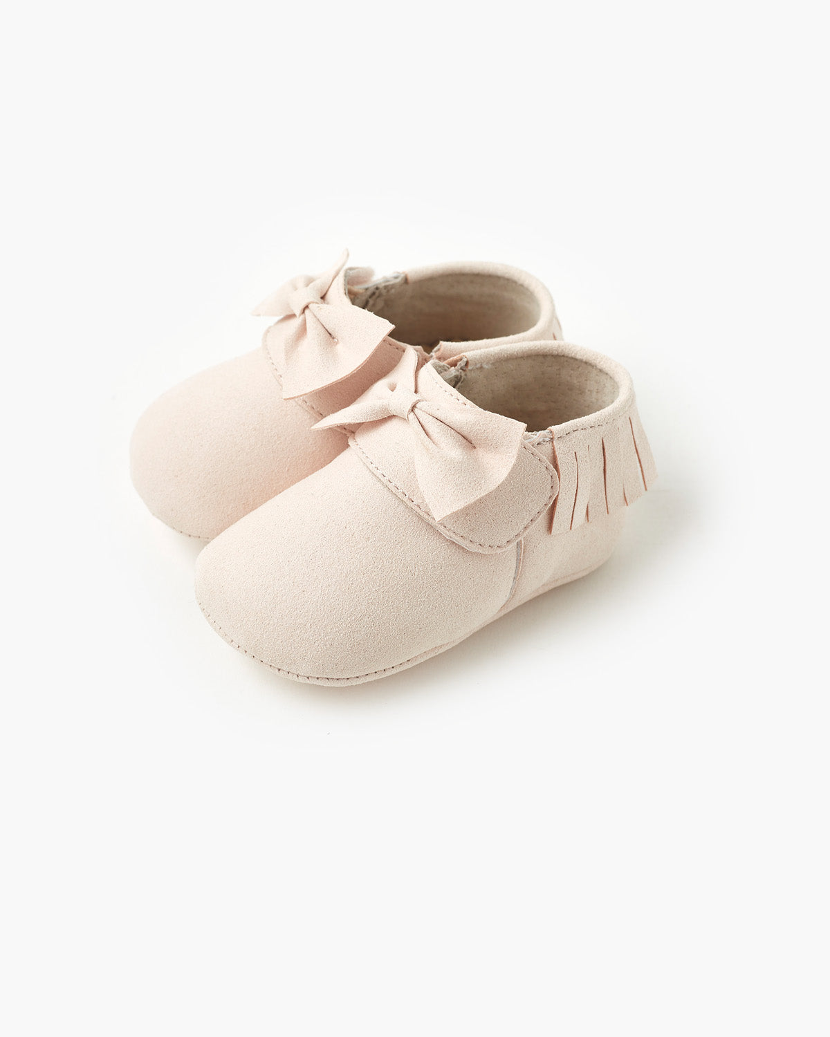 Remi Bow Bootie - Pale Pink