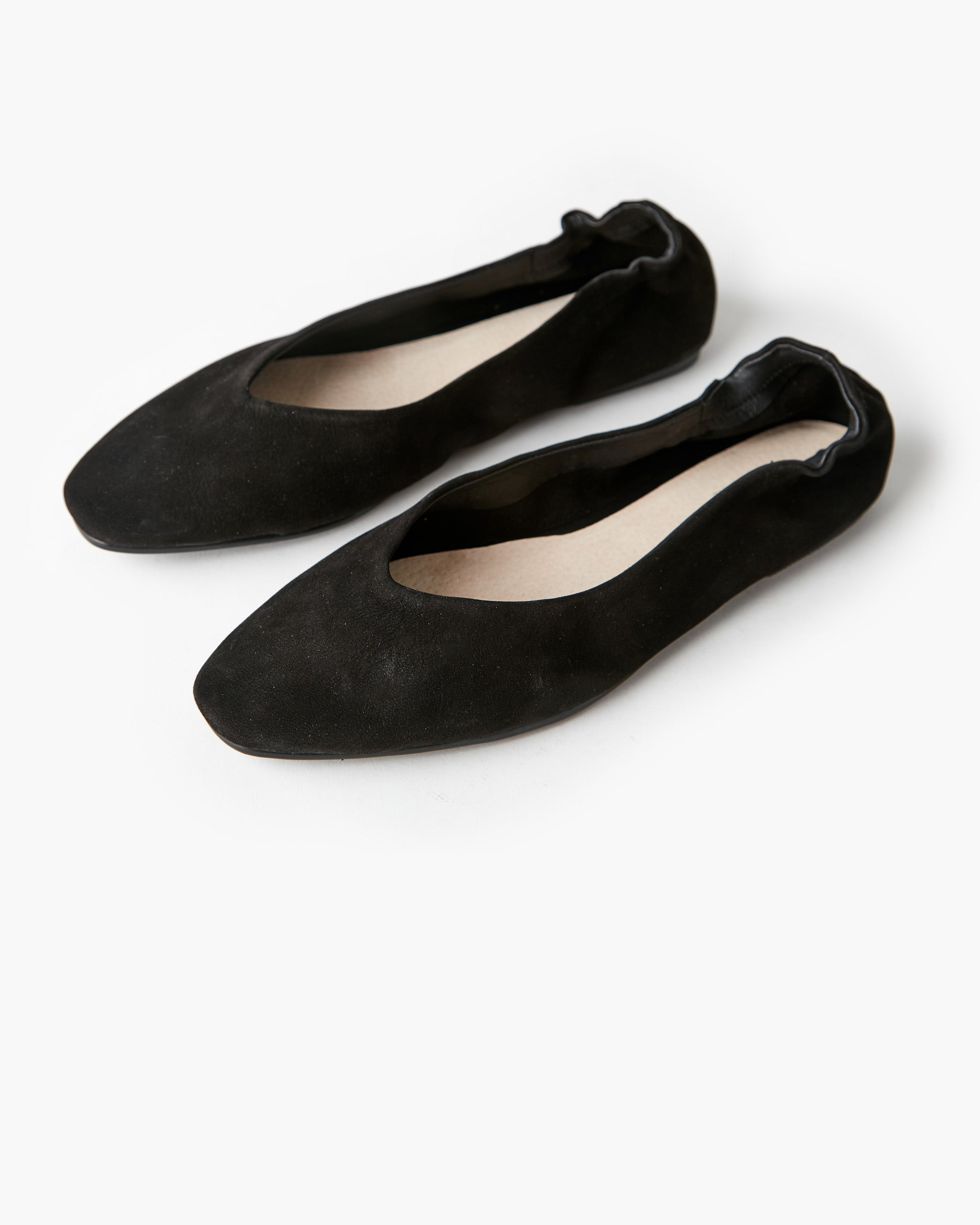 Becca Leather Ballet Flat - Black