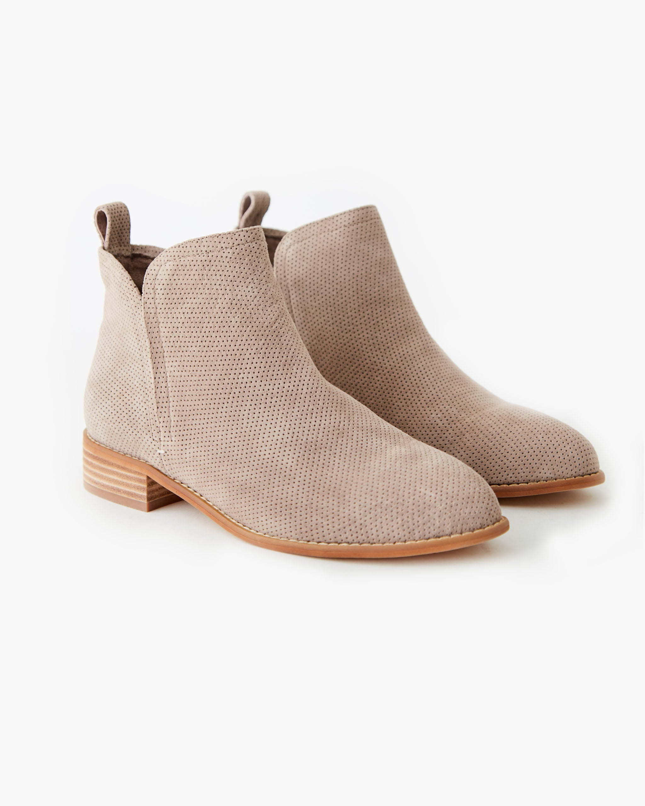 Douglas Leather Ankle Boot - Taupe Nubuck
