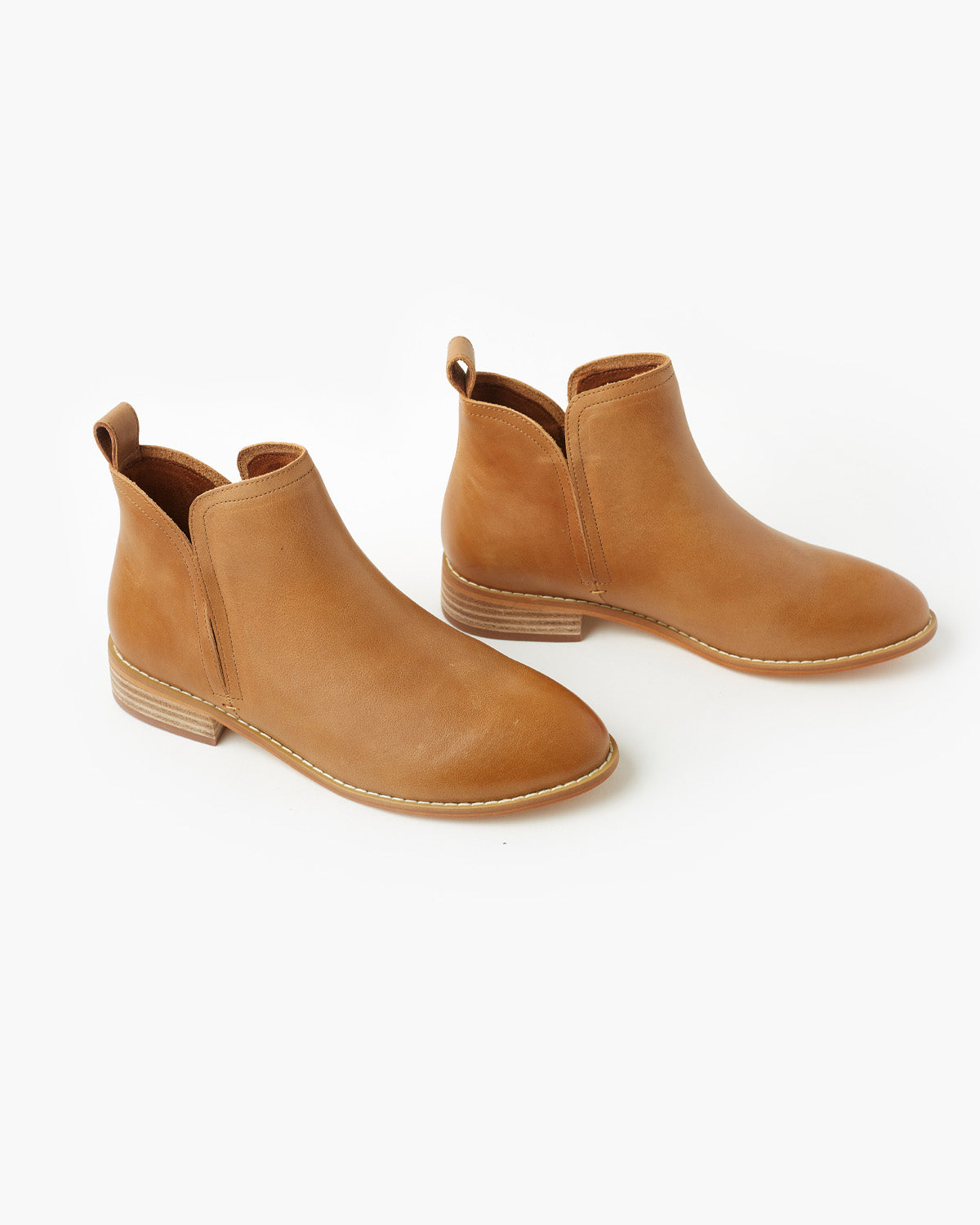 Douglas Leather Ankle Boot - Tan