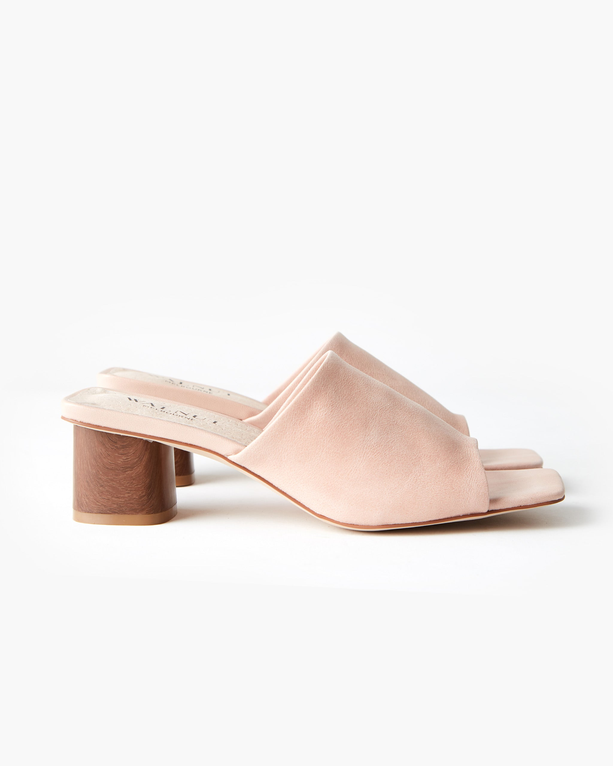 Indie Leather Block Heel - Peony