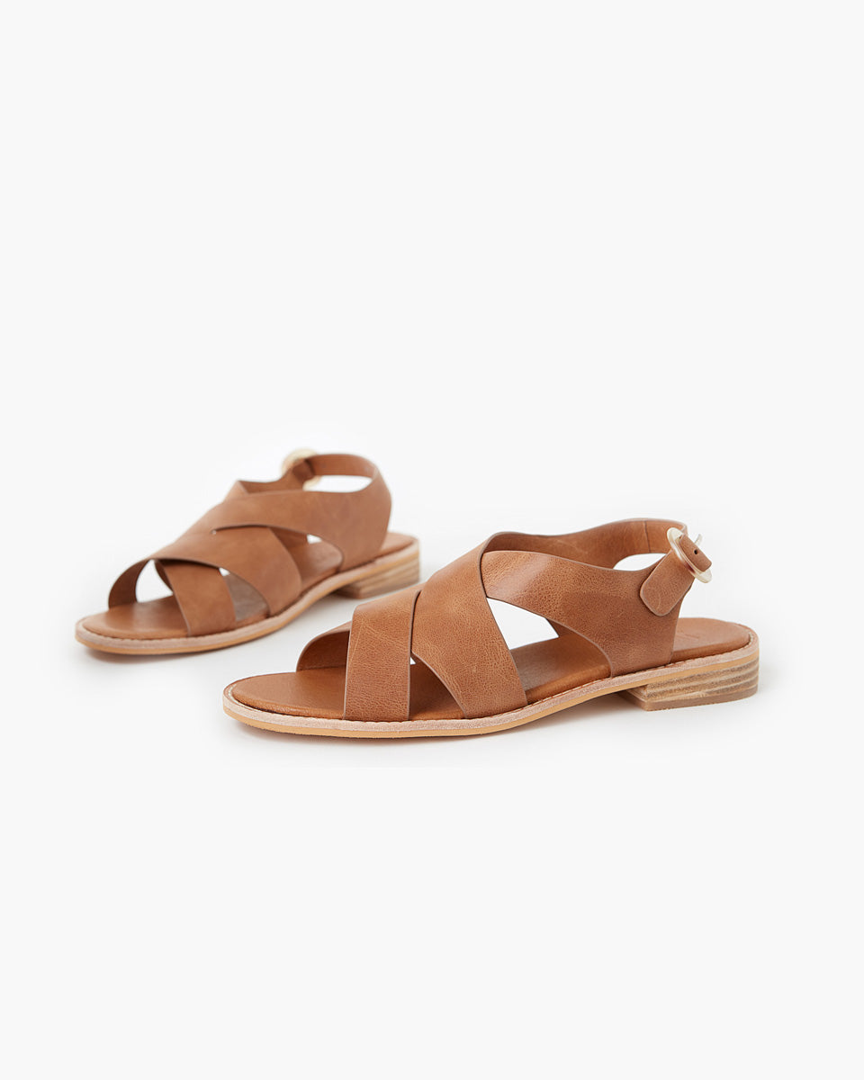 Esmay Leather Sandal - Tan