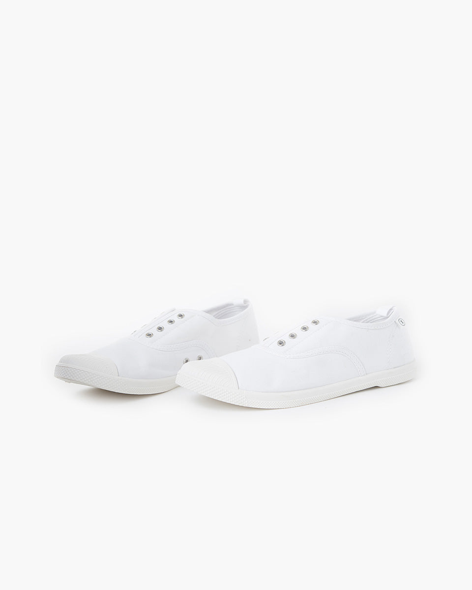 Euro Canvas Plimsole - White