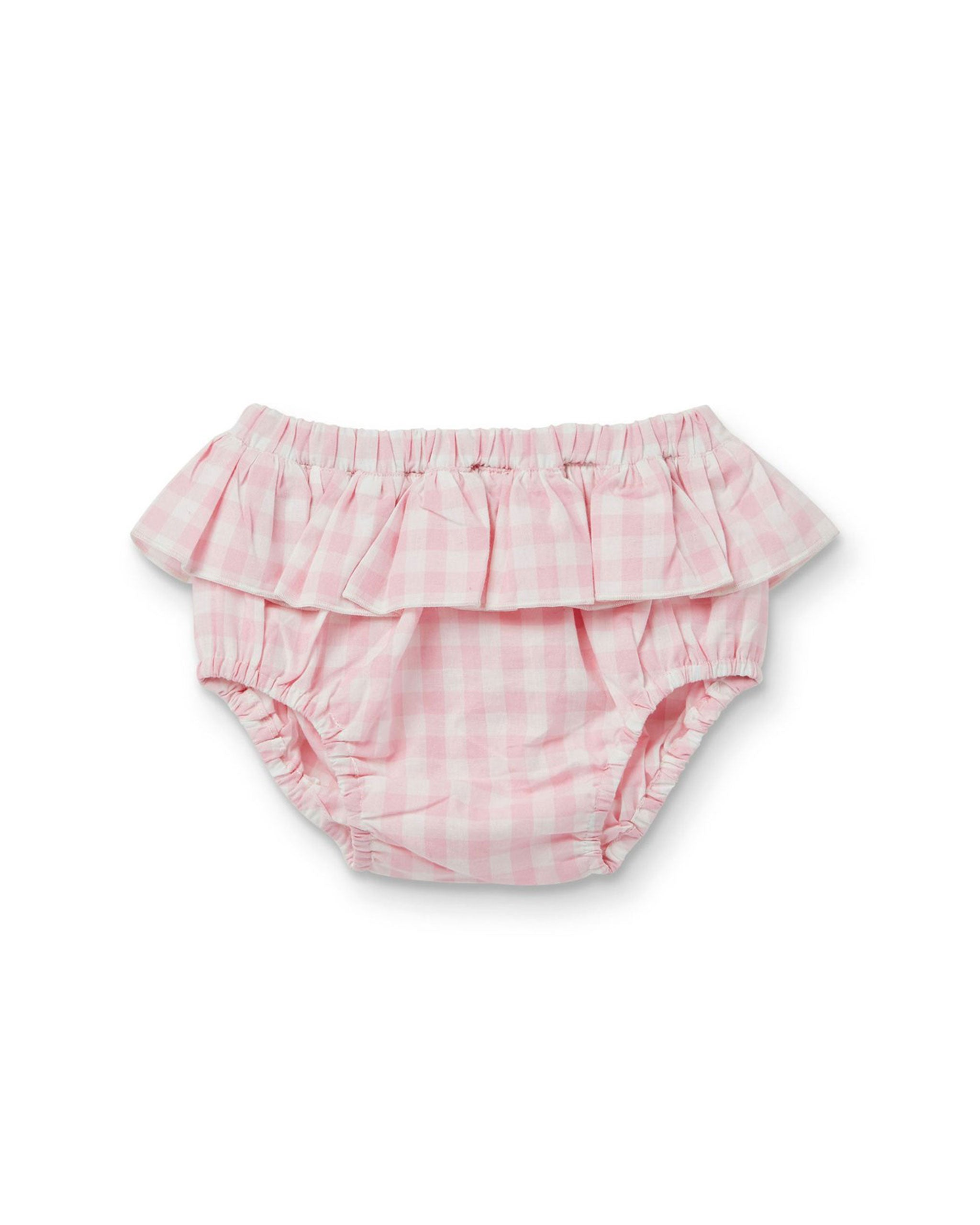 Gloria Frill Bloomer Pink Gingham
