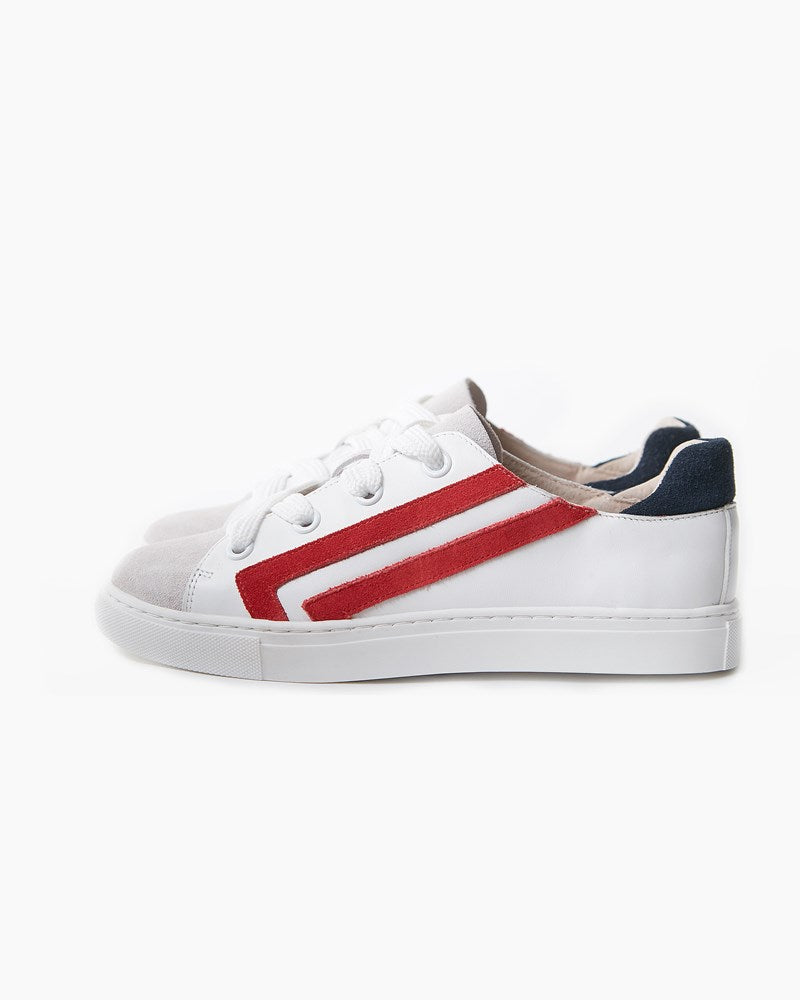 Harvey Leather Sneaker - White