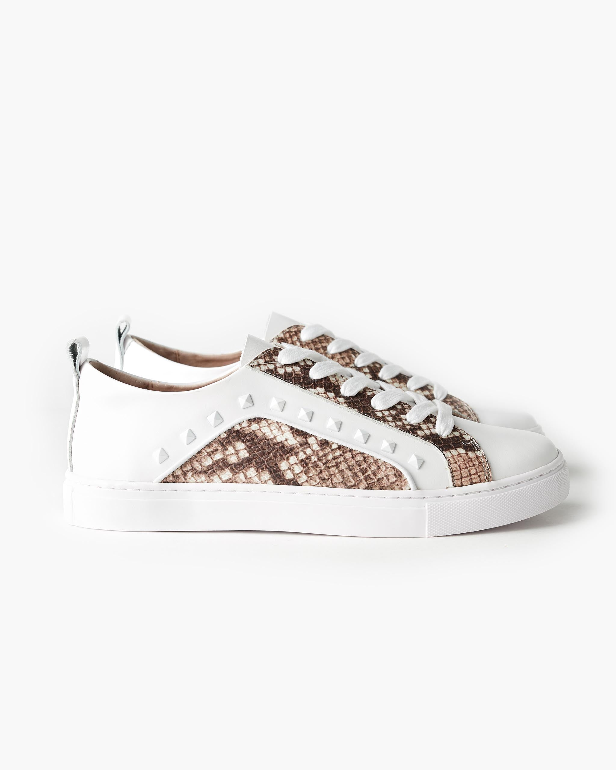 Hatch Leather Sneaker - White