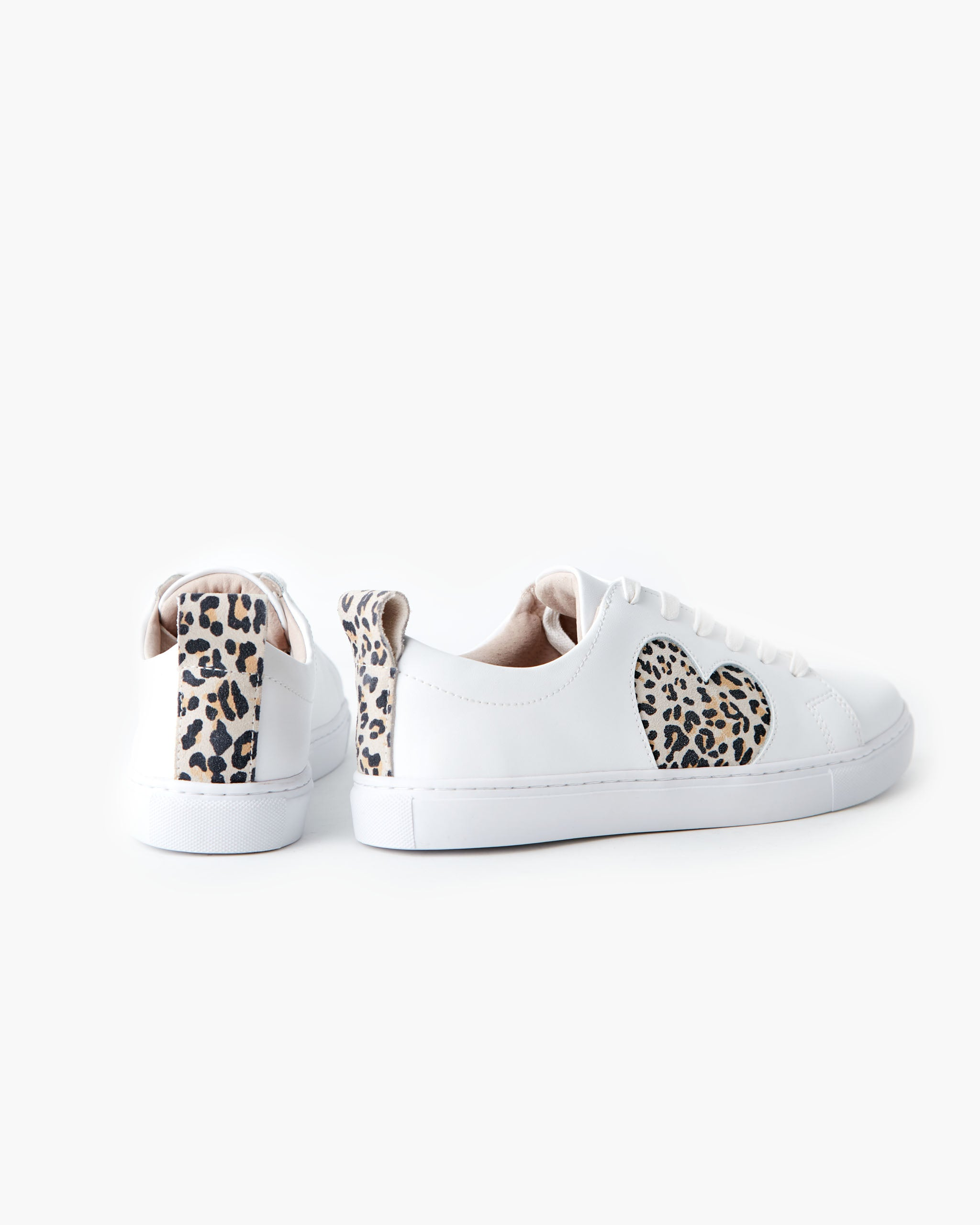 Heart Leather Sneaker - Honey Leopard