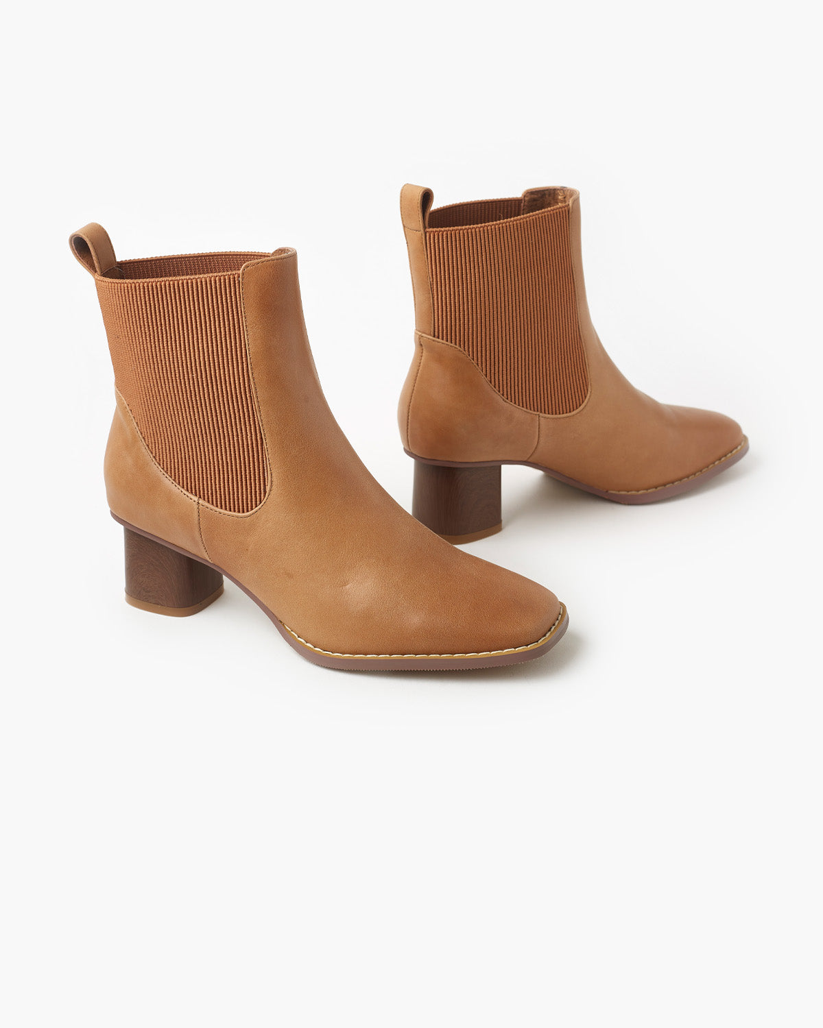 Imogen Leather Boot - Tan