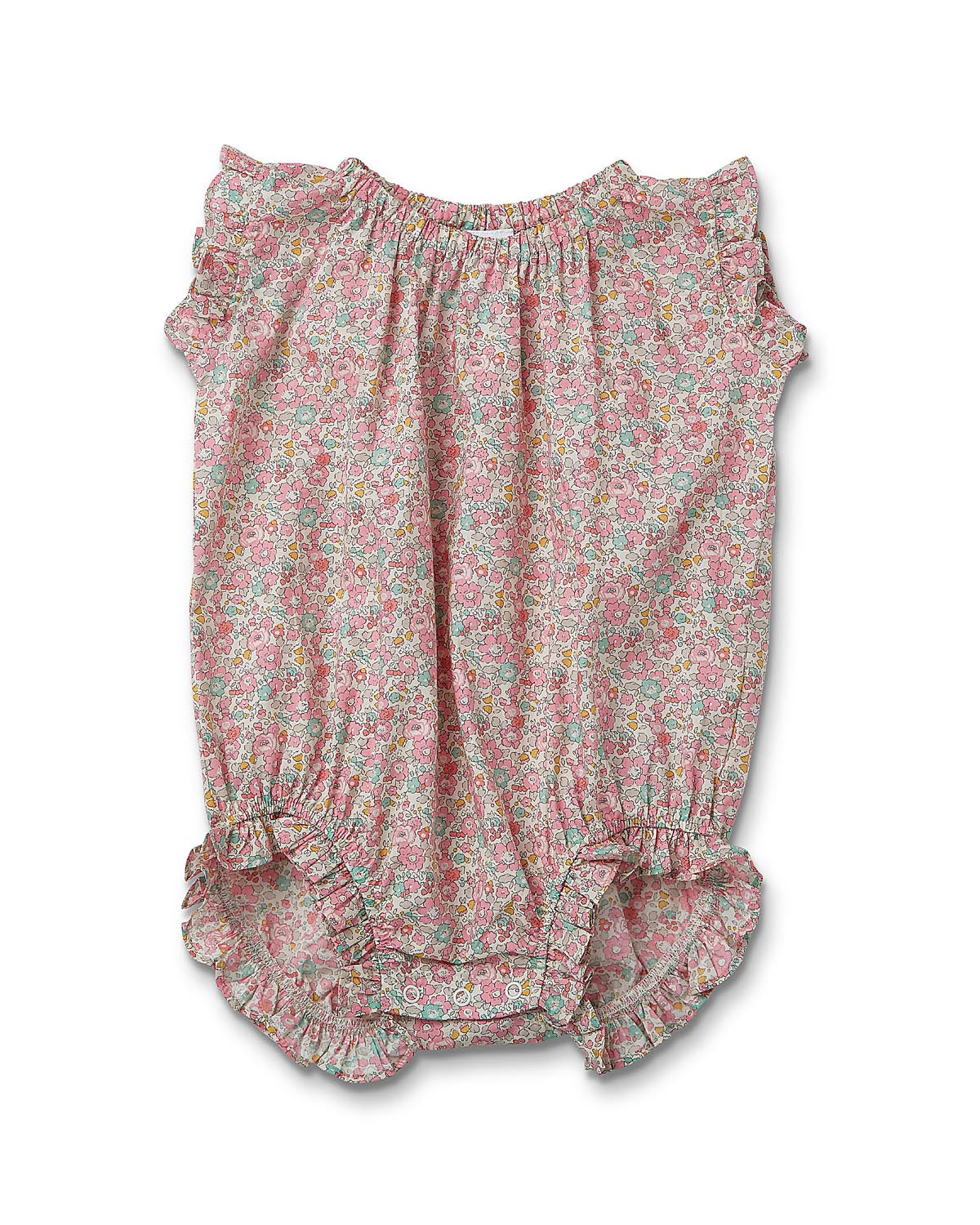 Janie Romper Liberty Fabric - Betsy Ann Pink