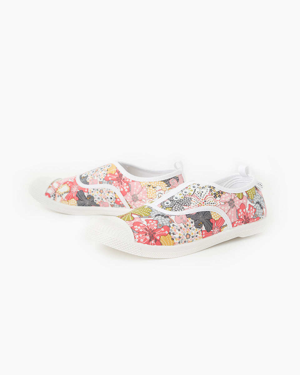 Euro Canvas Plimsole Liberty Fabric - Mauvey