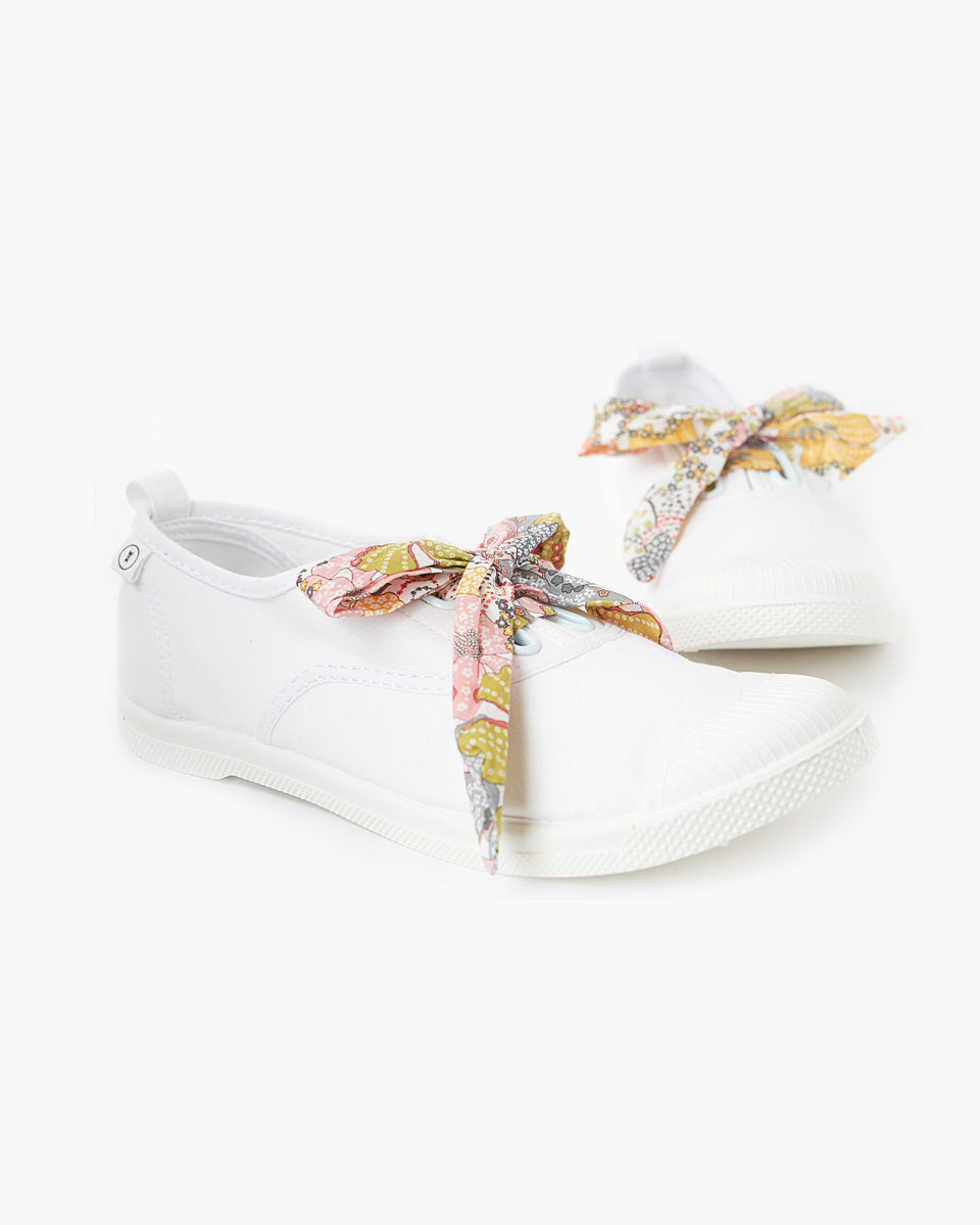 Eve Canvas Plimsole Liberty Fabric - Mauvey