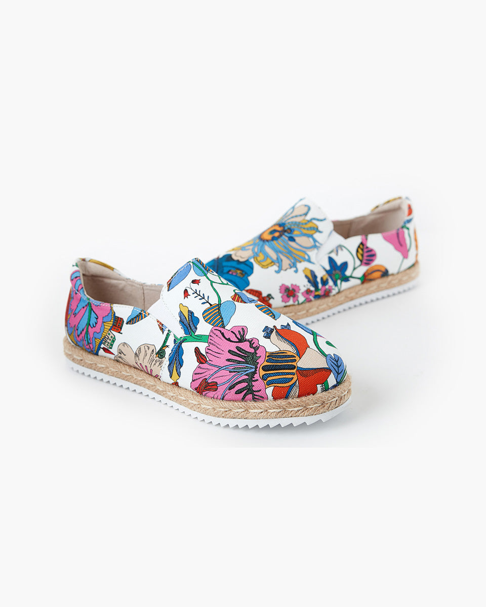 Goldie Canvas Espadrille Liberty Fabric - Fantasy Land
