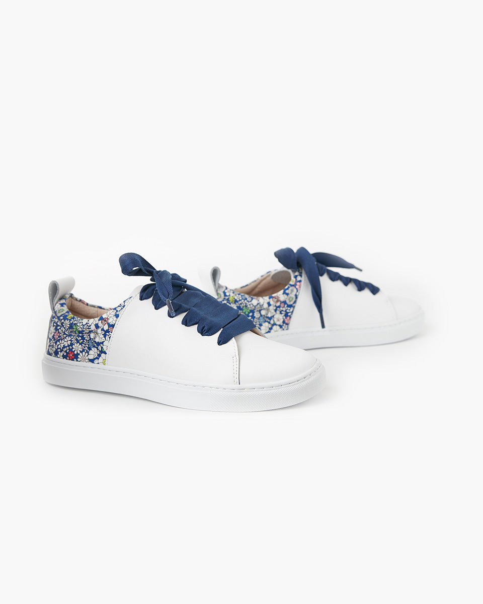 Harper Leather Sneaker Liberty Fabric - Junes Meadow