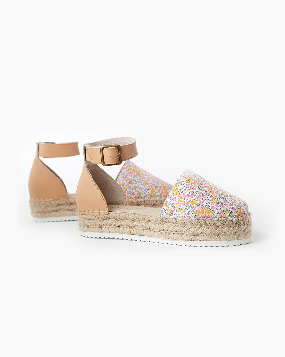 Moeta Canvas Espadrille Liberty Fabric - Wiltshire Bud