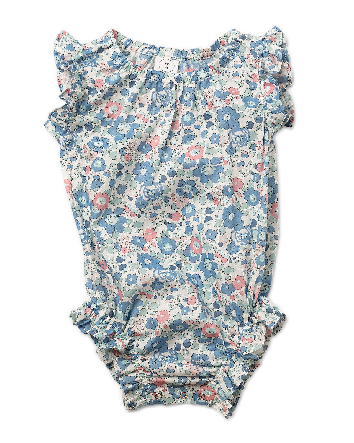Janie Romper Liberty Fabric - Betsy Ann Blue