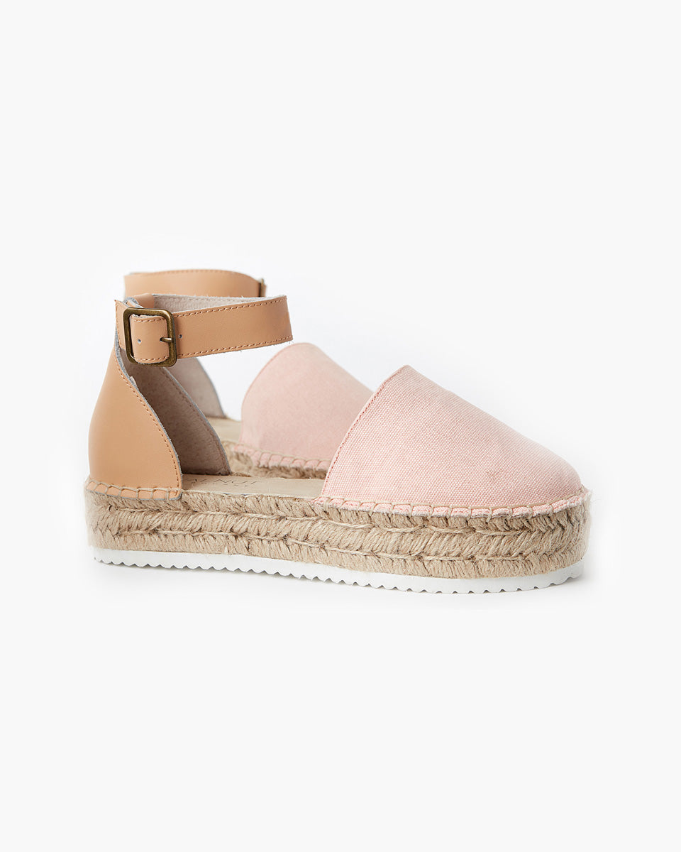 Moeta Canvas Espadrille - Blush