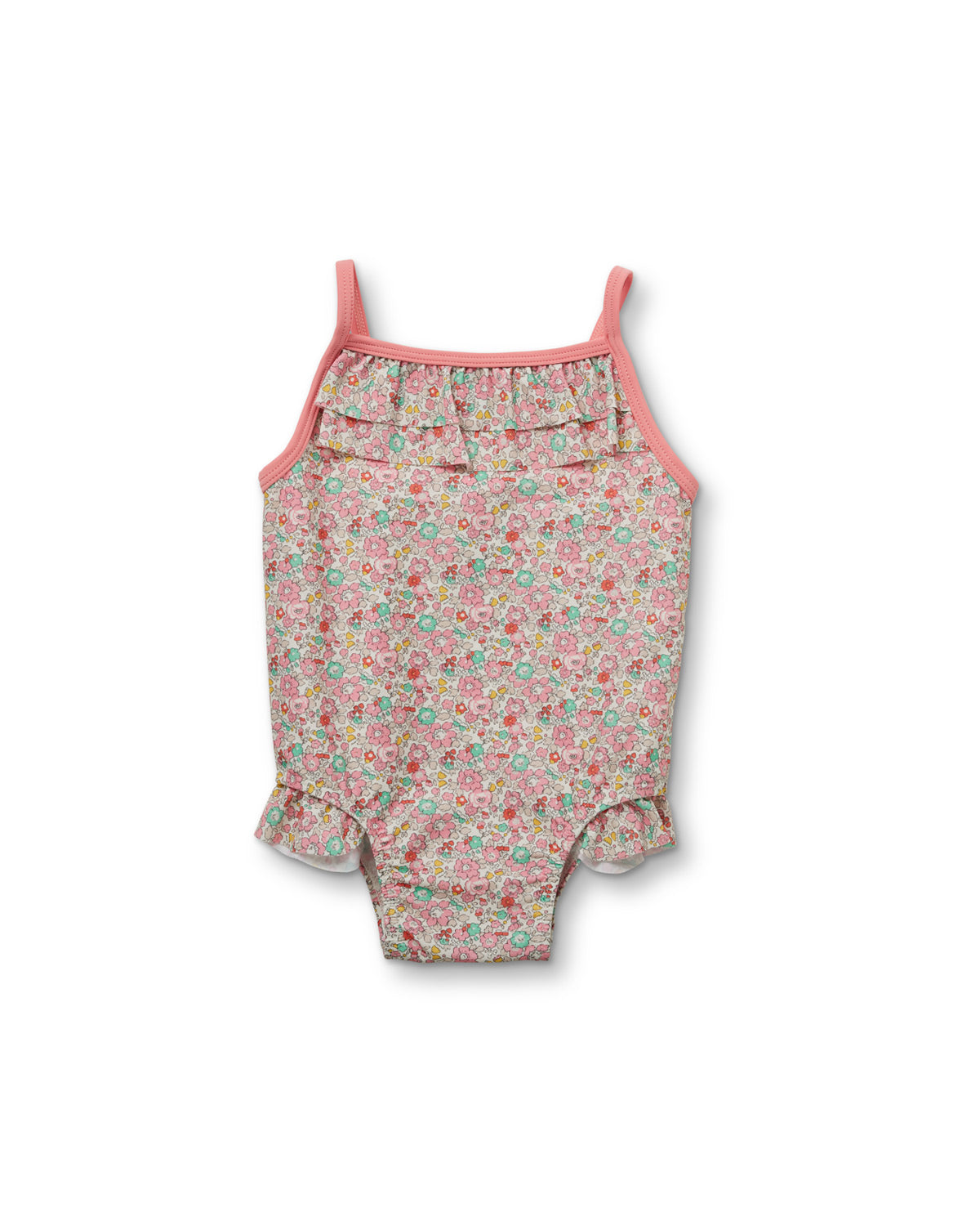 Pearl Frill Swimsuit Liberty Fabric - Betsy Ann Pink