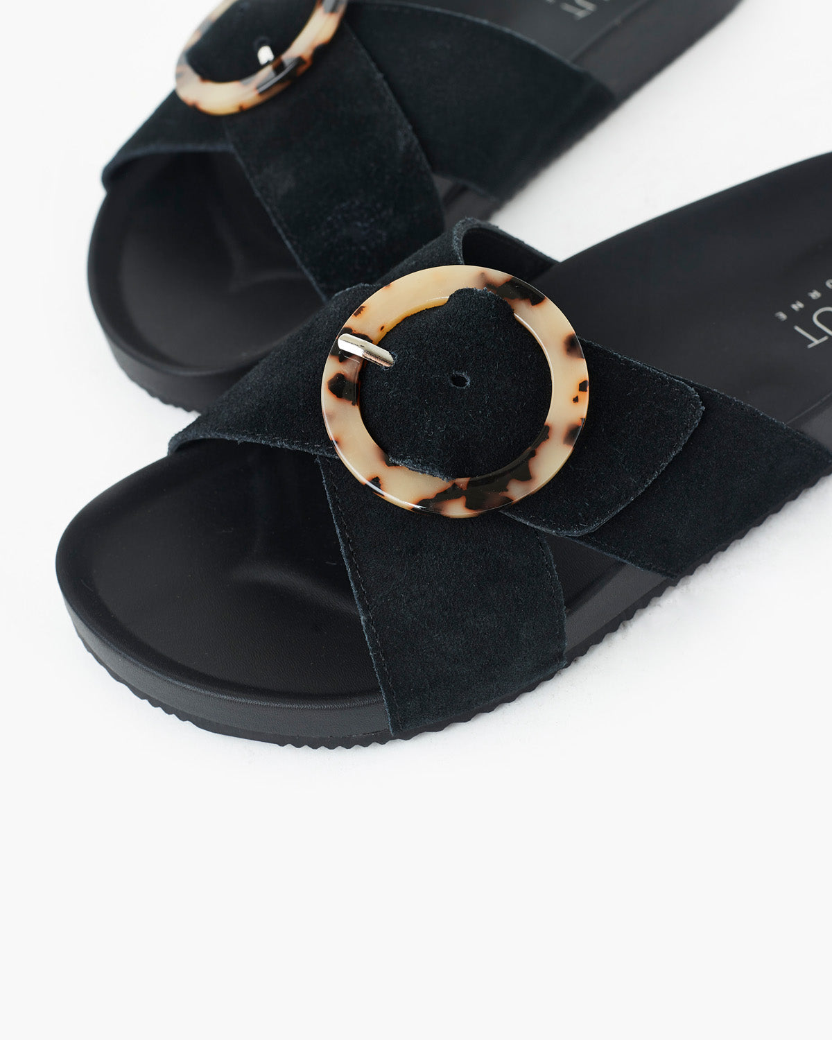 Penny Suede Slide - Black