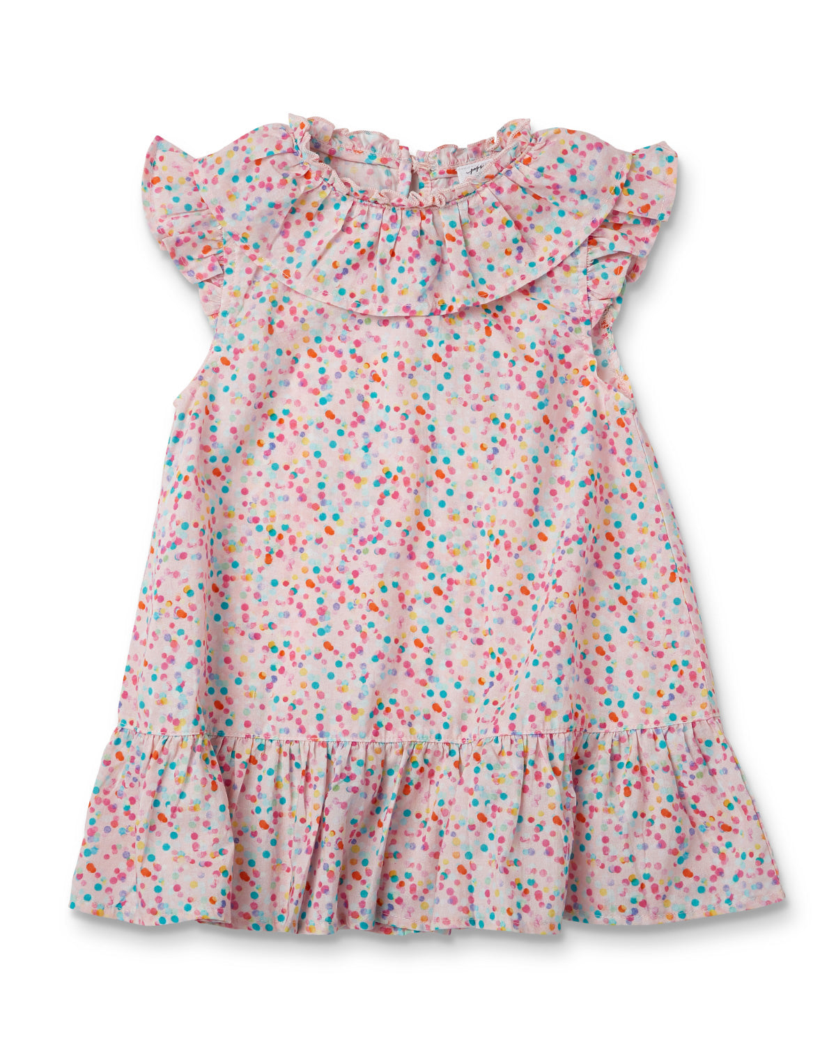 Poppies Flossey Frill Dress - Confetti