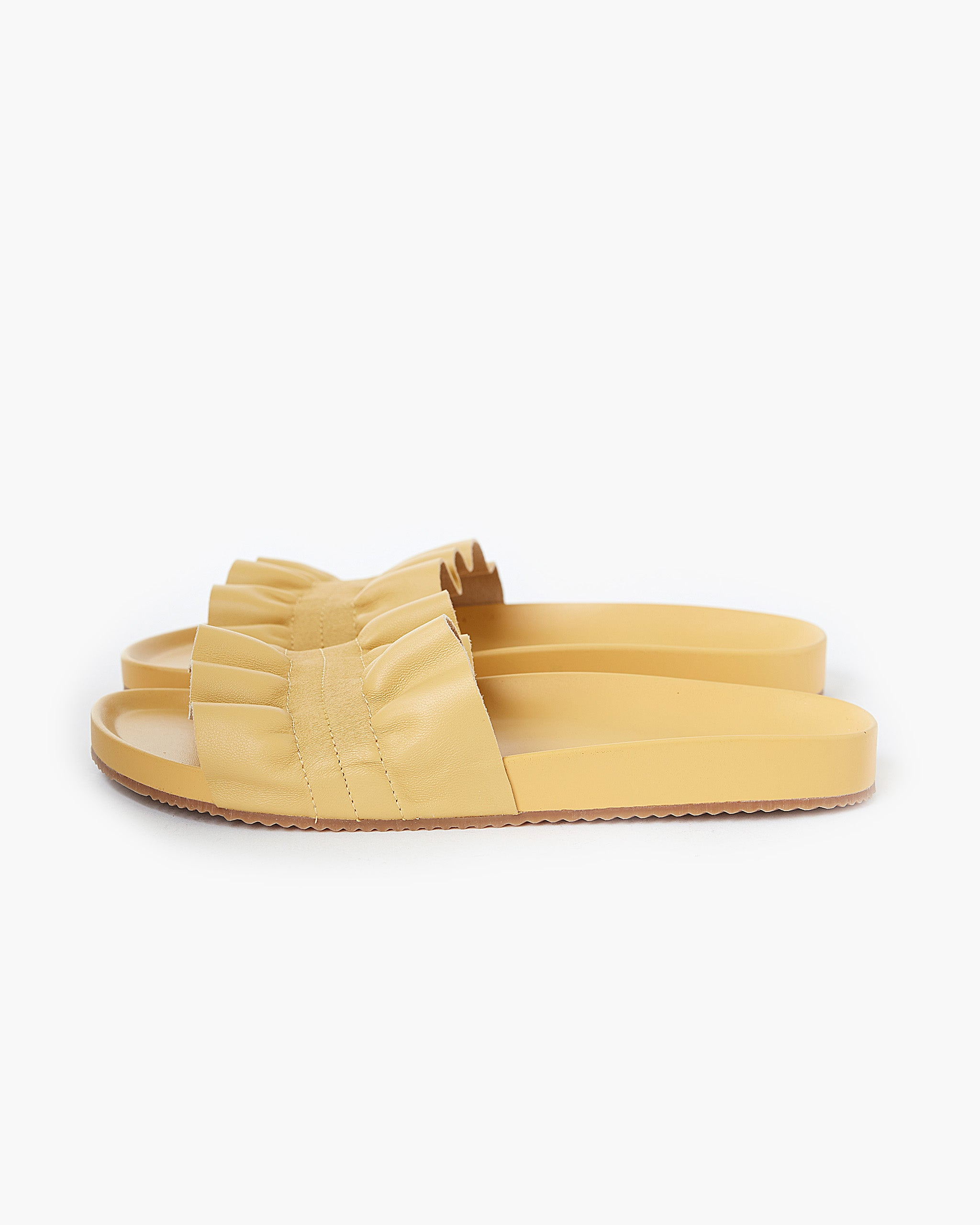Posey Leather Slide - Chamomile